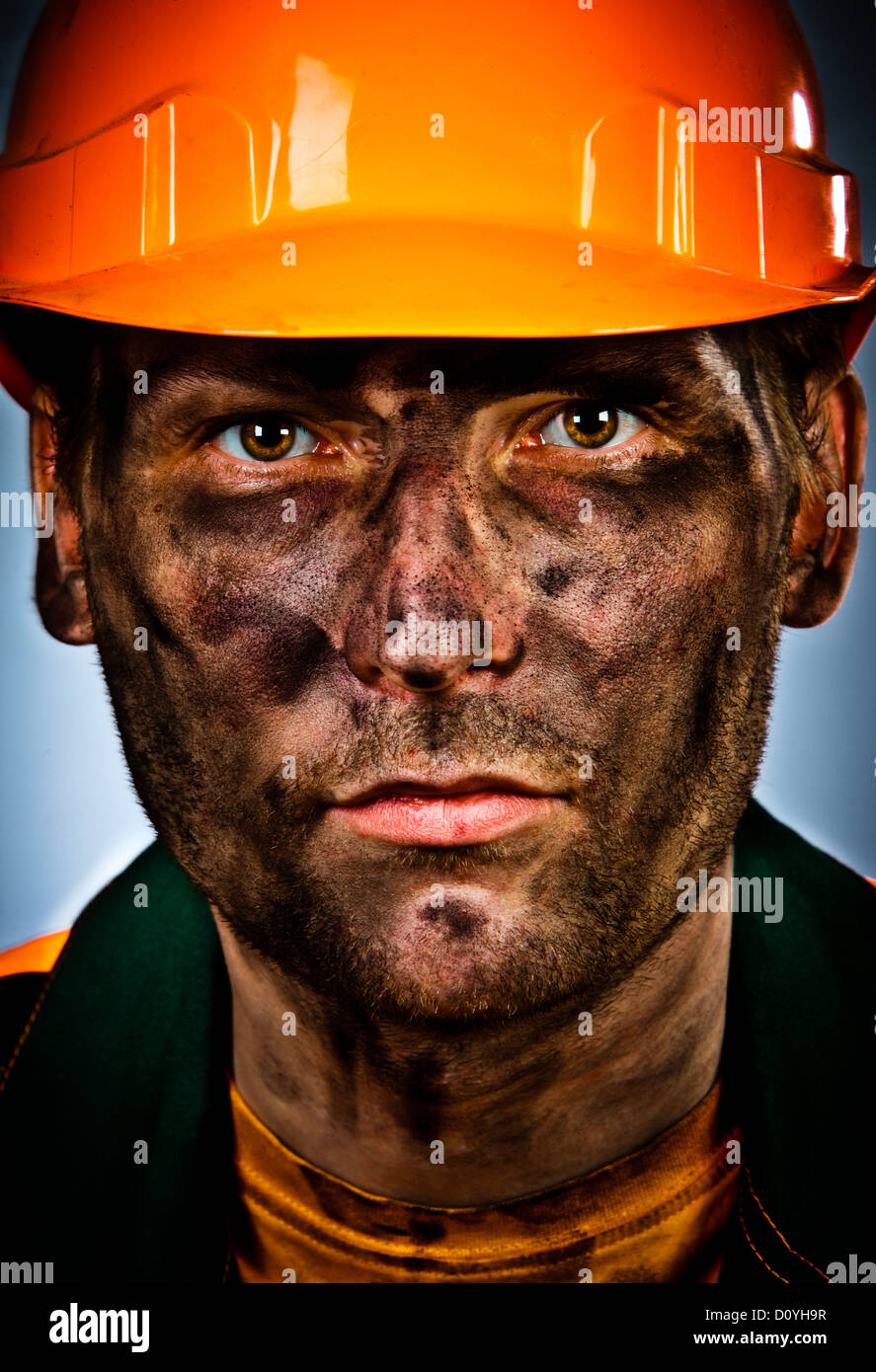 Portrait Öl Industrie Arbeiter Stockbild