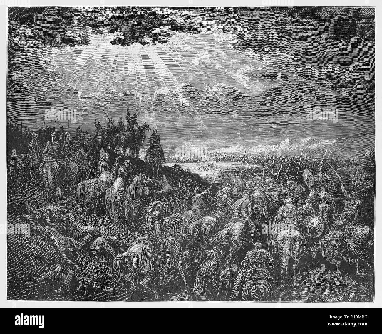 """Joshua beten für die Sonne """"stehen geblieben"""" Stockbild"""