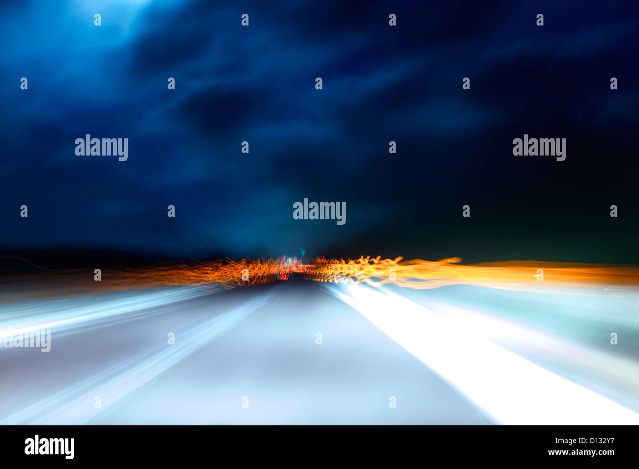 Motion Blur von Highway Szene Stockbild