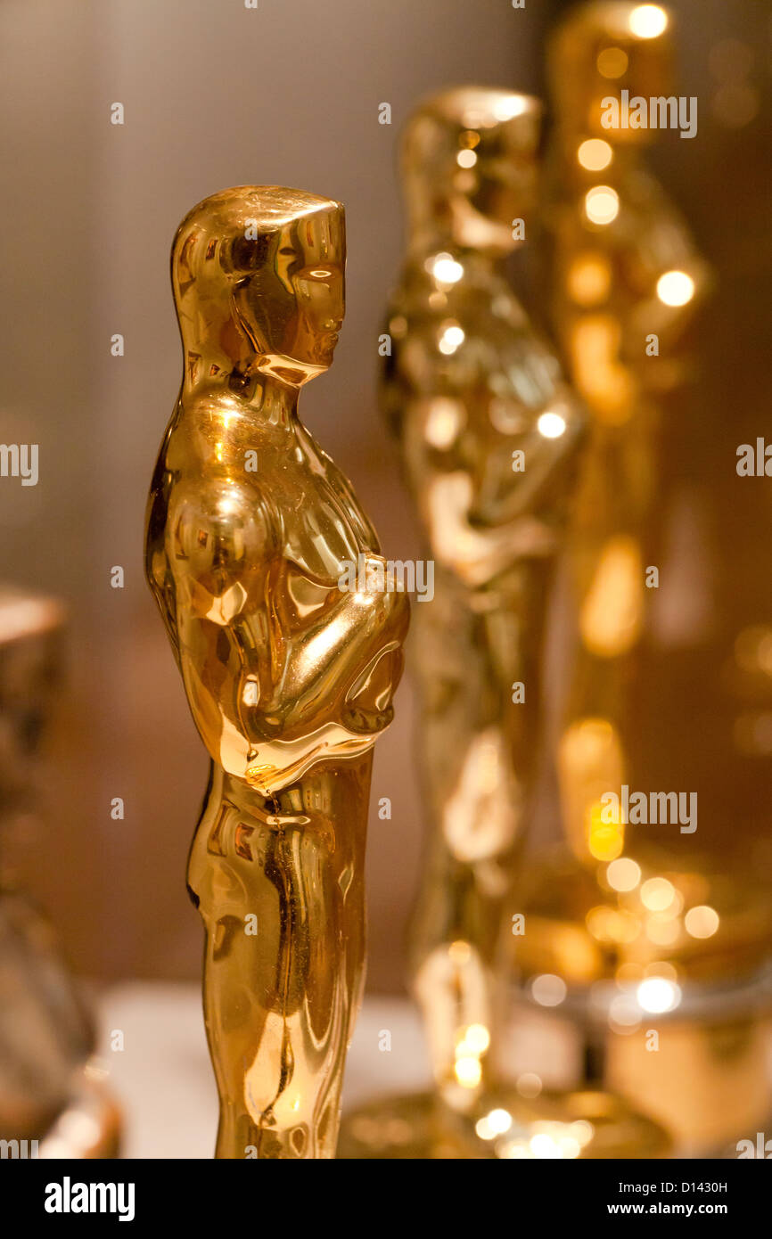 Die Academy Awards Oscar-Statuette - USA Stockbild