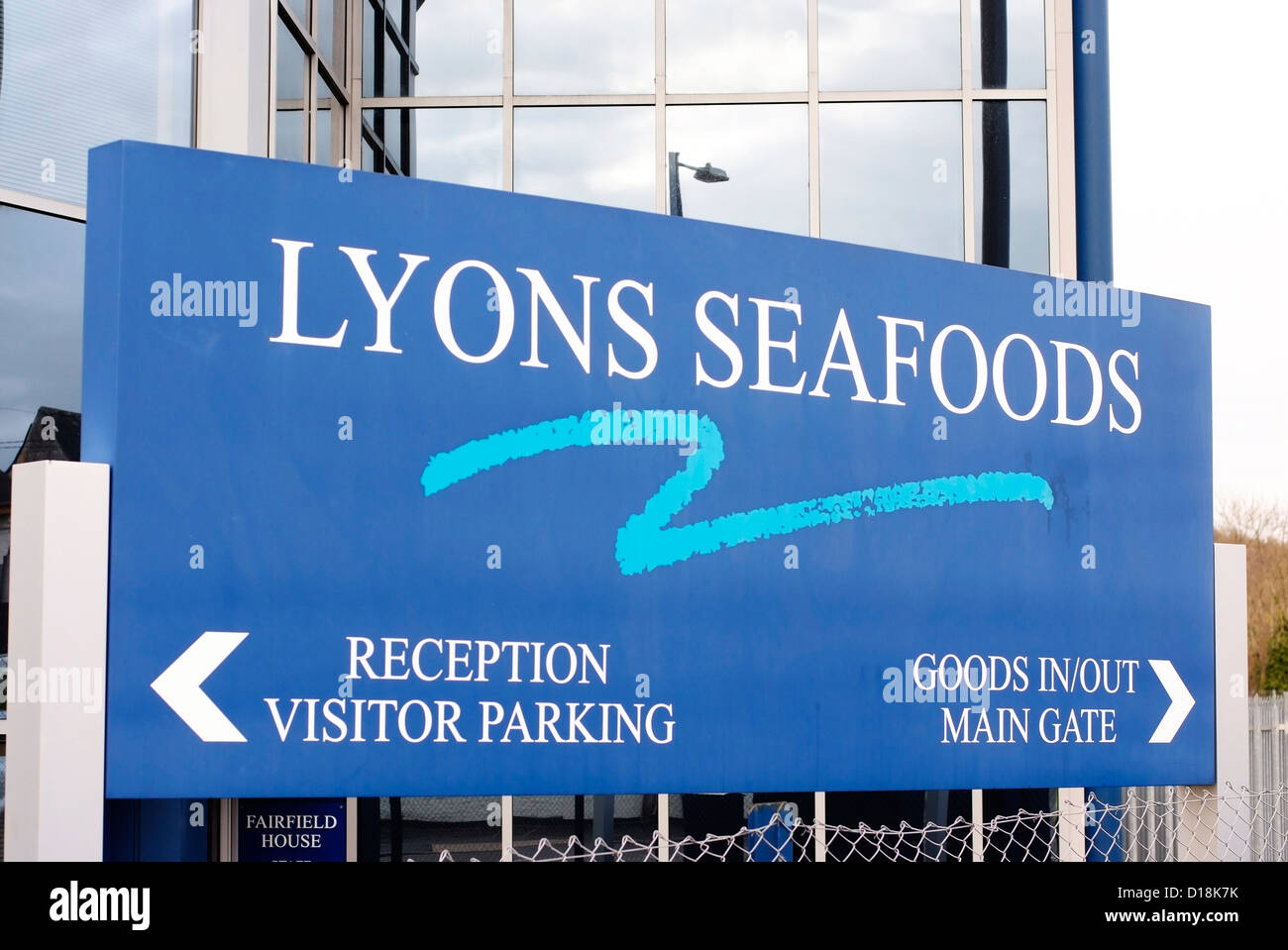 Lyons Seafoods in Warminster. Stockbild