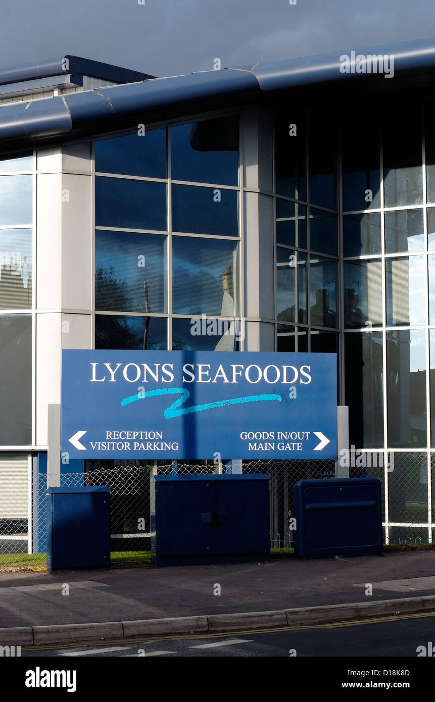 Lyons Seafoods in Warminster. Stockbild