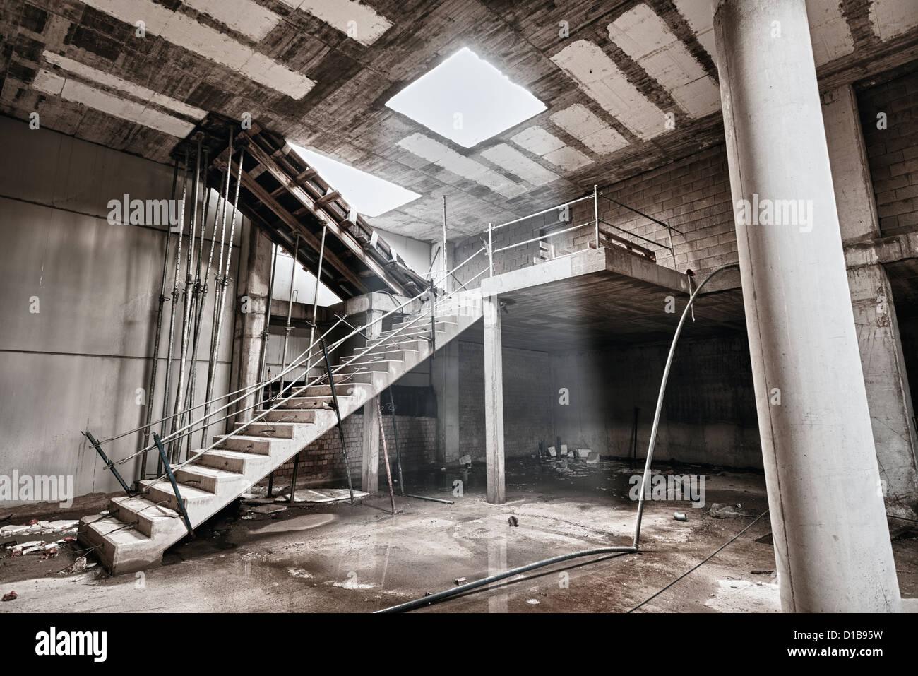 Verlassene Gebäude. Stockbild