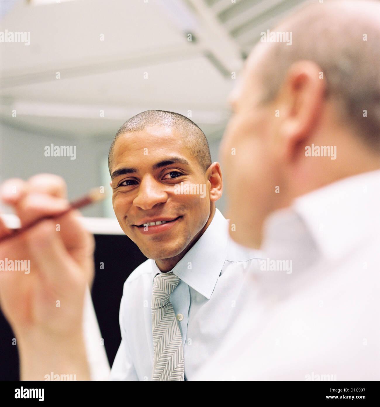Geschäft Leute Rechenzentrum Control Center Mann lizenzfrei außer anzeigen und Plakate Stockbild