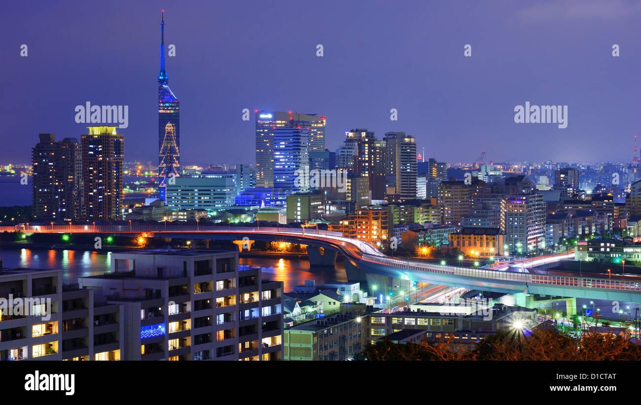 Stadtbild von Fukuoka, Japan. Stockbild