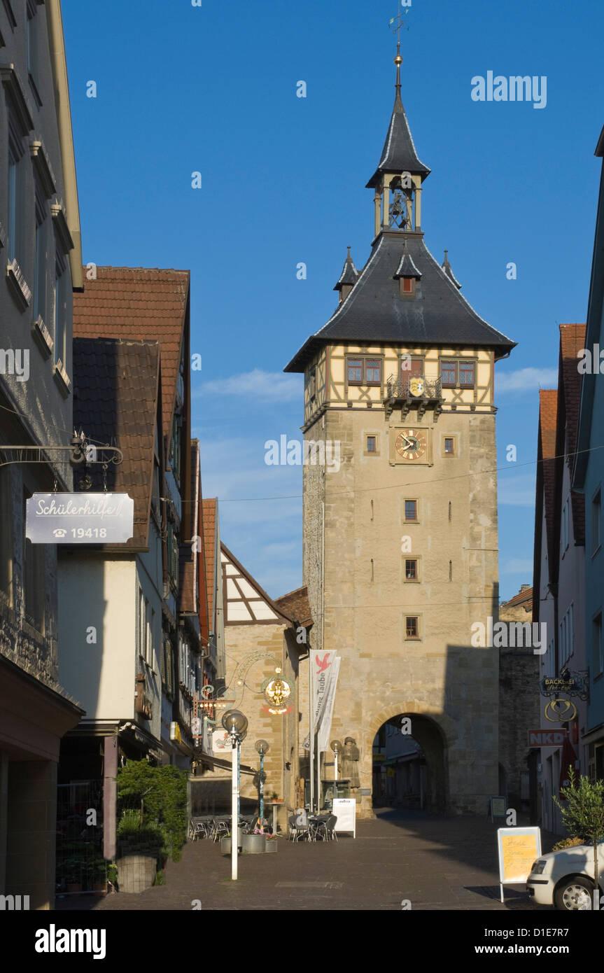 Bin die Altstadt Tür Marbach Neckar, Baden-Württemberg, Deutschland, Europa Stockbild