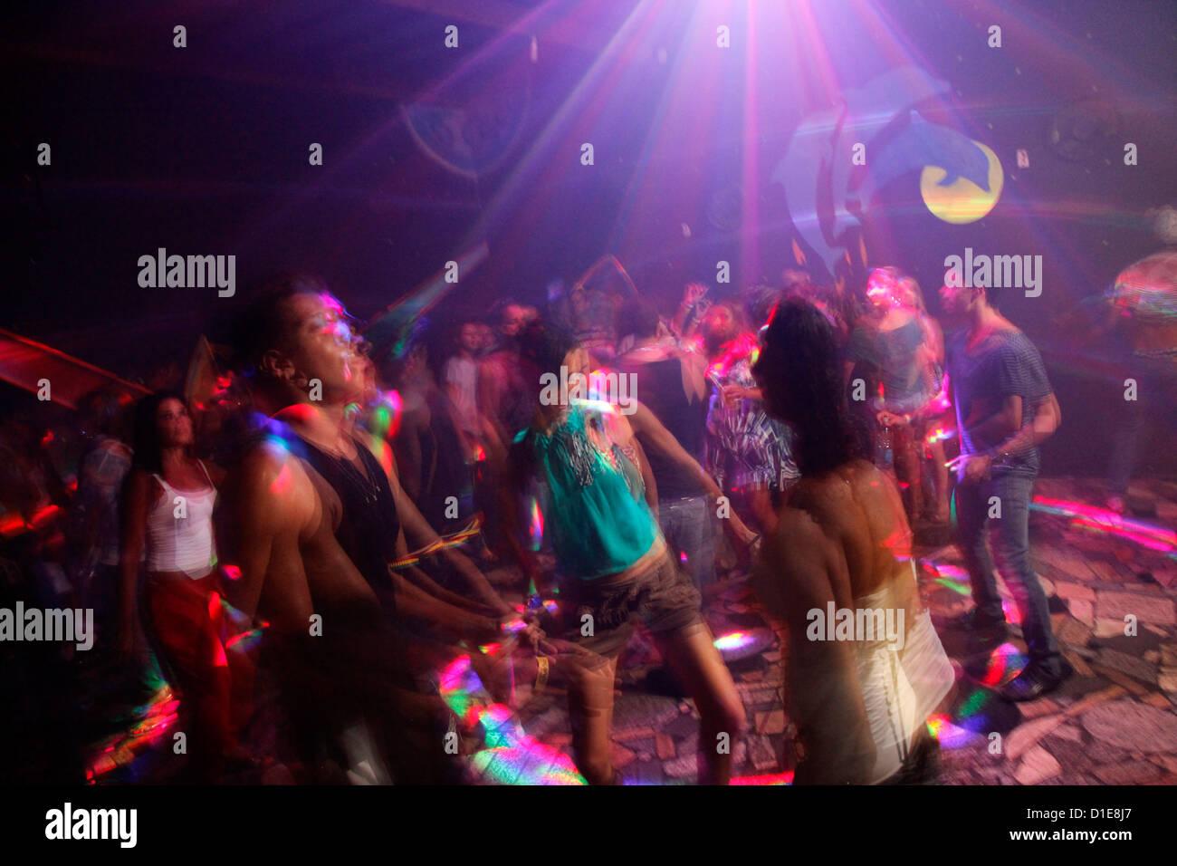 Party im Bombordo Club, Porto Seguro, Bahia, Brasilien, Südamerika Stockbild