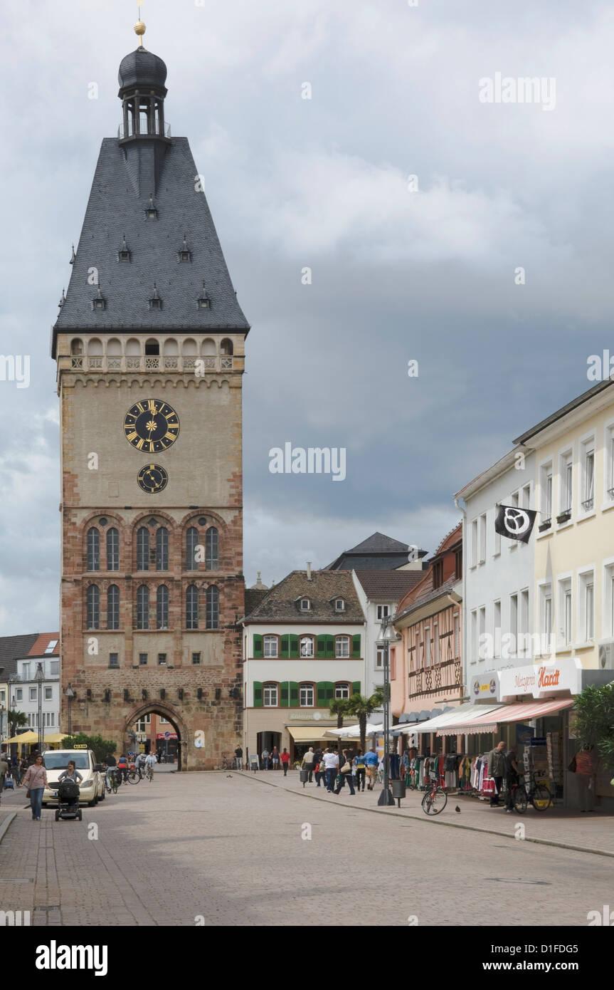 Das Alte Portal Haupttor, Speyer, Rheinland-Pfalz, Deutschland, Europa Stockbild