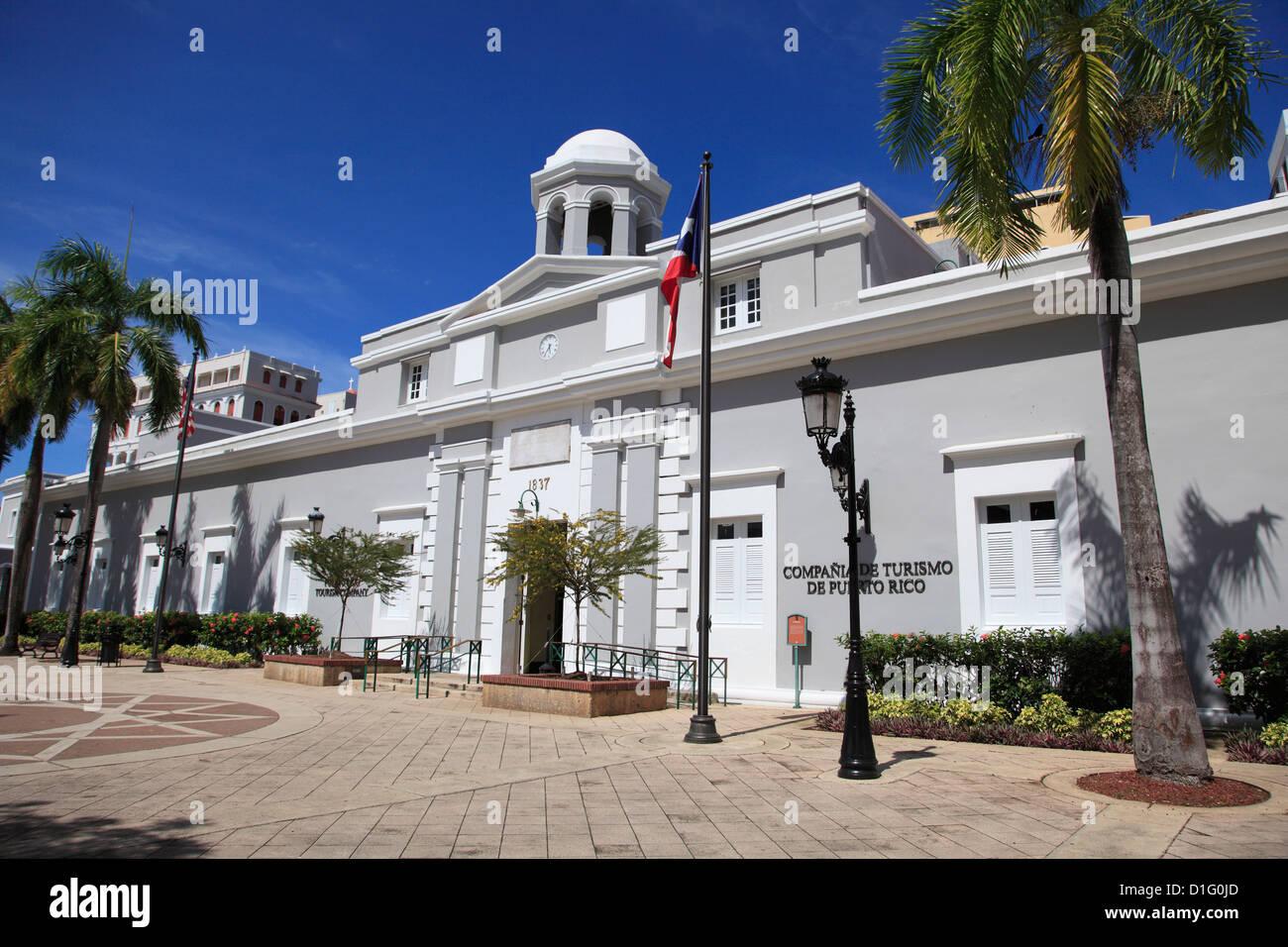 Museum, Puerto Rico Tourism Company, Paseo De La Princesa, Old San Juan, San Juan, Puerto Rico, West Indies Stockbild
