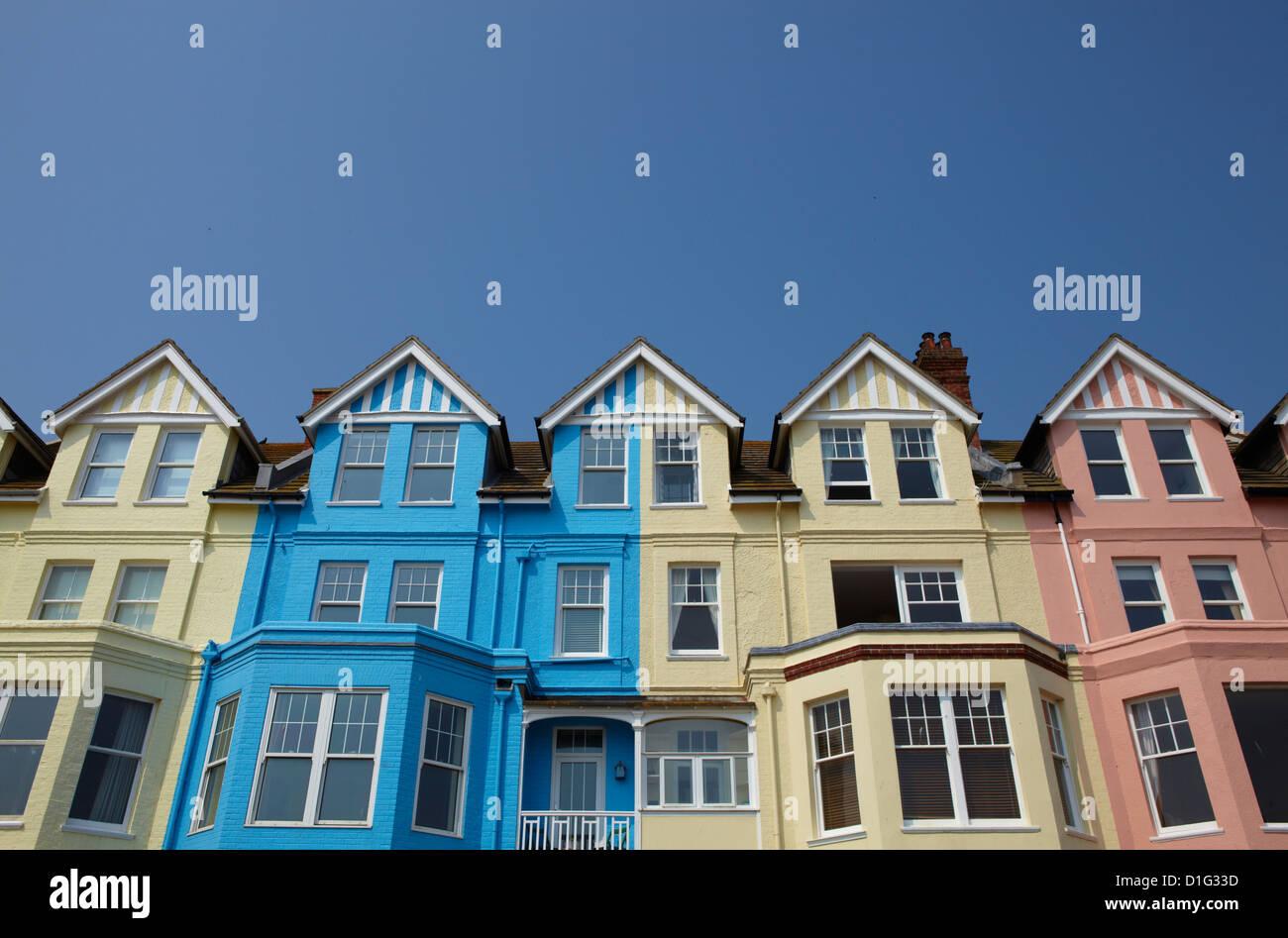 Bunte Meer beherbergt in Aldeburgh, Suffolk, England, Vereinigtes Königreich, Europa Stockbild