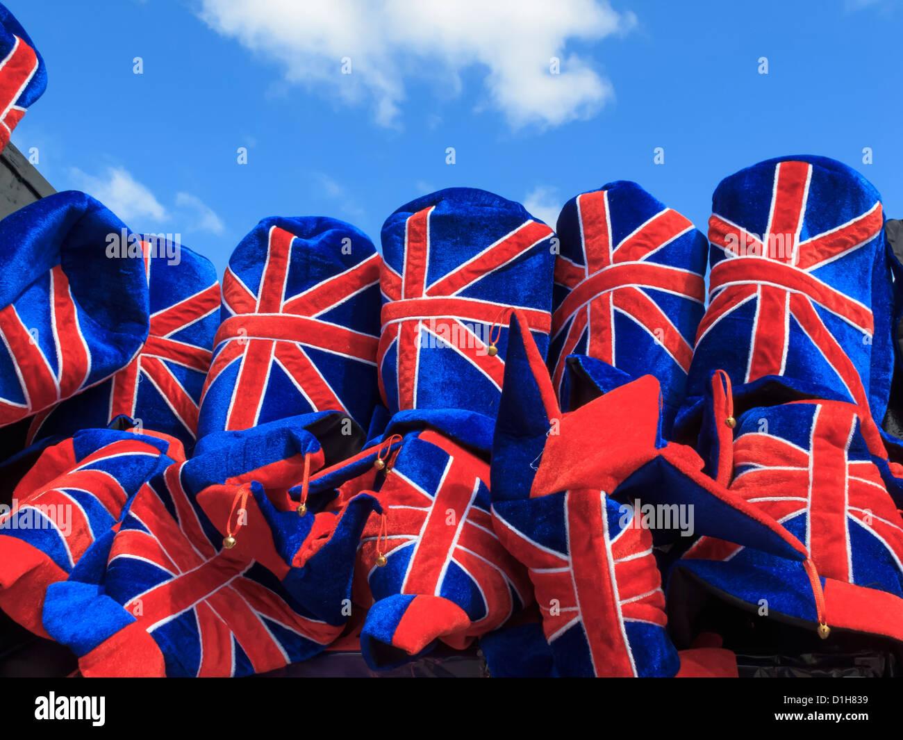 Union Jack Souveniers Westminster London England Stockbild