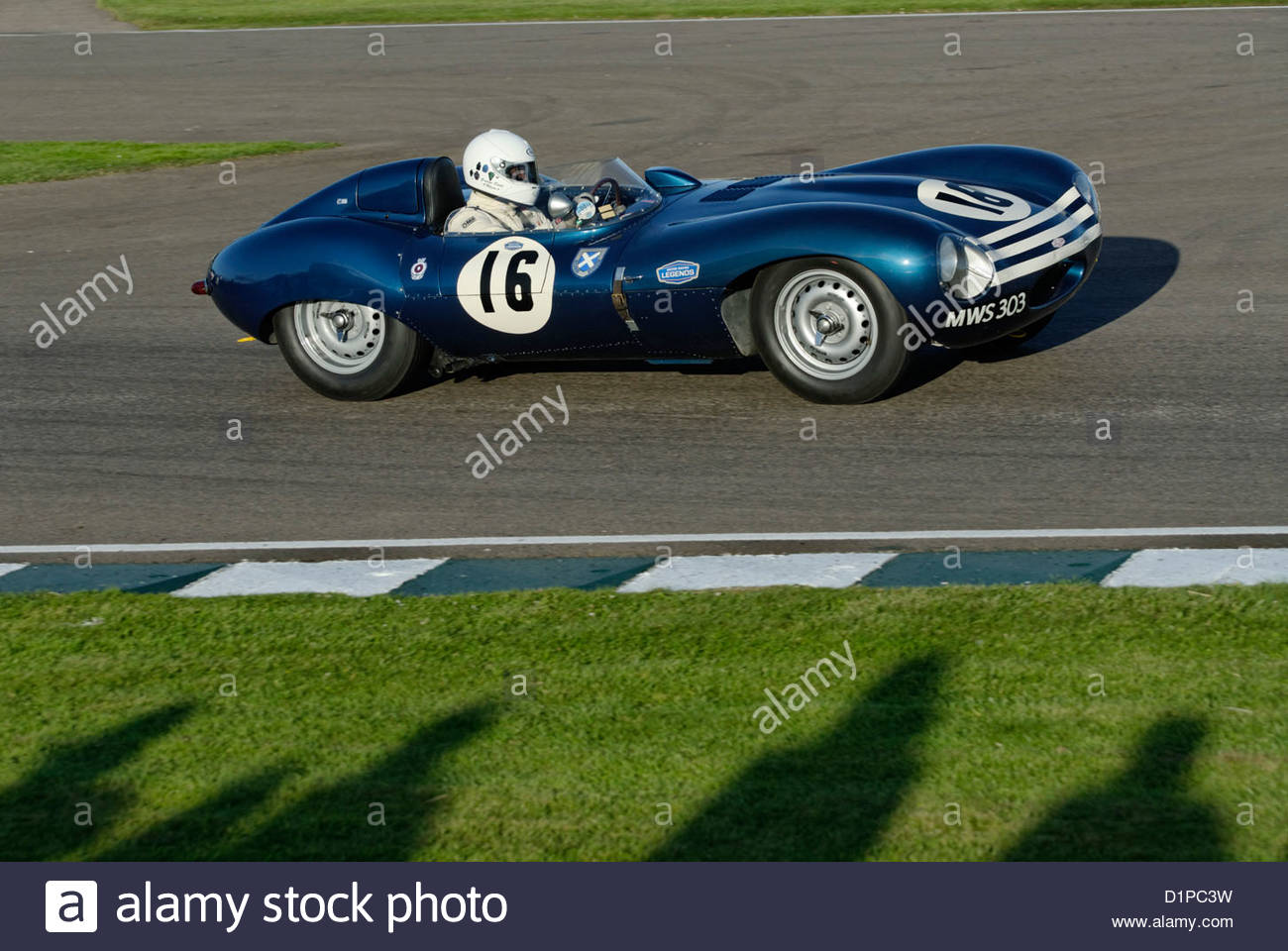 Jaguar D-Type beim Goodwood Revival Meeting 2012 Stockbild