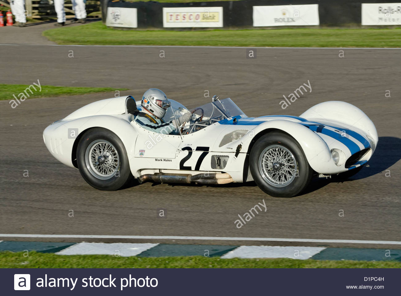Maserati Typ 61 Birdcage am Goodwood Revival Meeting 2012 Stockbild