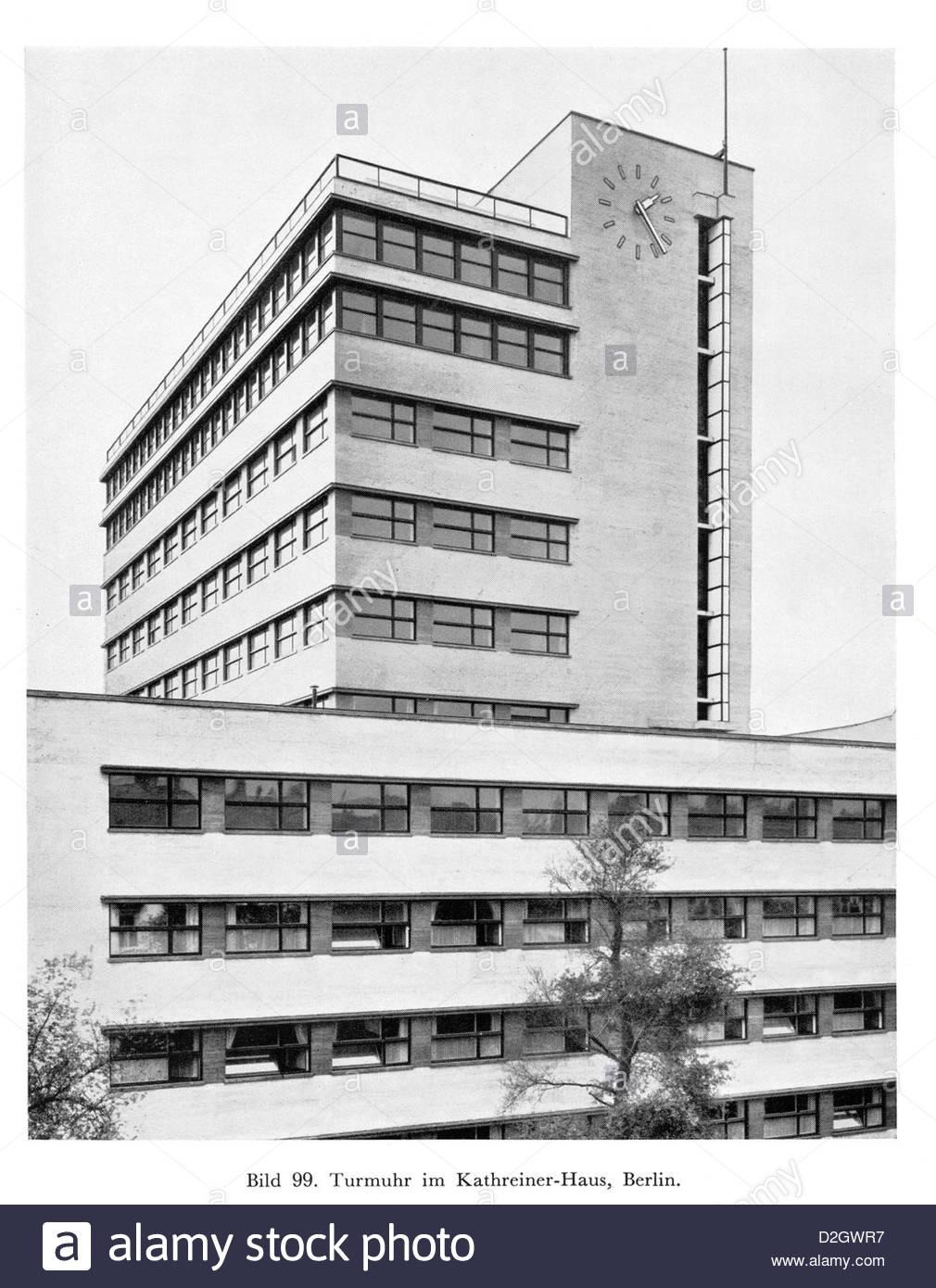 30er Jahre Berliner Architektur Stockbild