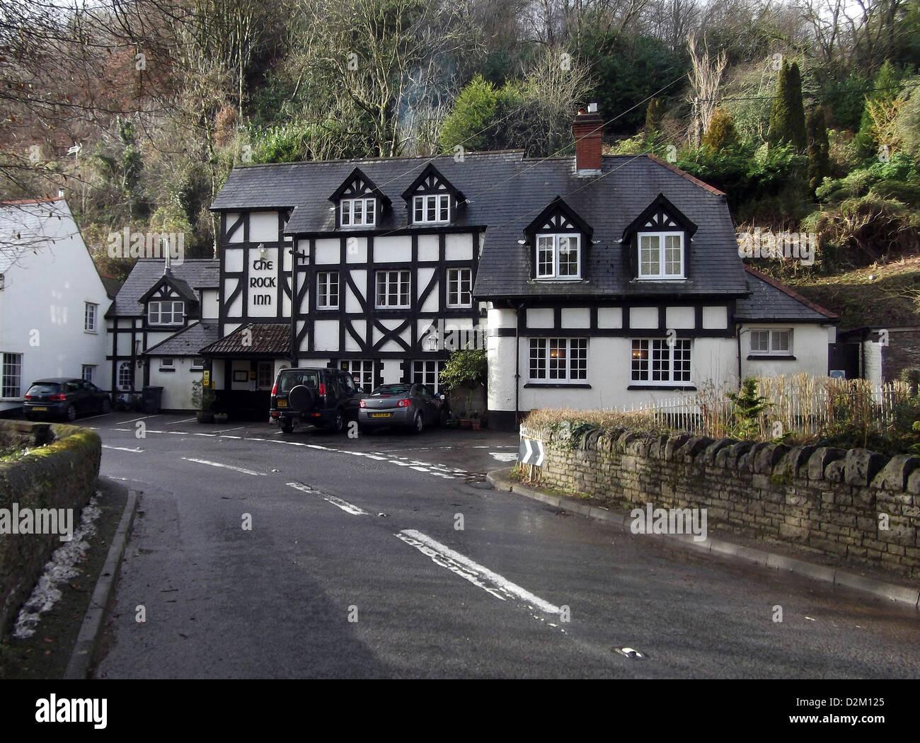 The Rock Inn waterrow, nr, Taunton, Somerset, TA4 2AX, Großbritannien ein englisches Pub mit feinem Dining, Stockbild