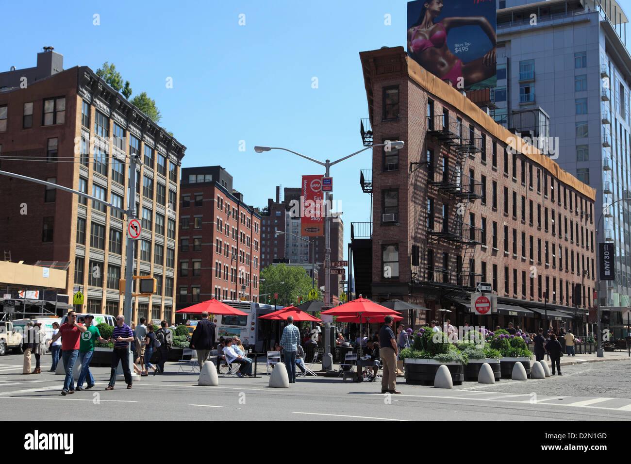 Meatpacking District, downtown Szeneviertel, Manhattan, New York City, Vereinigte Staaten von Amerika, Nordamerika Stockbild