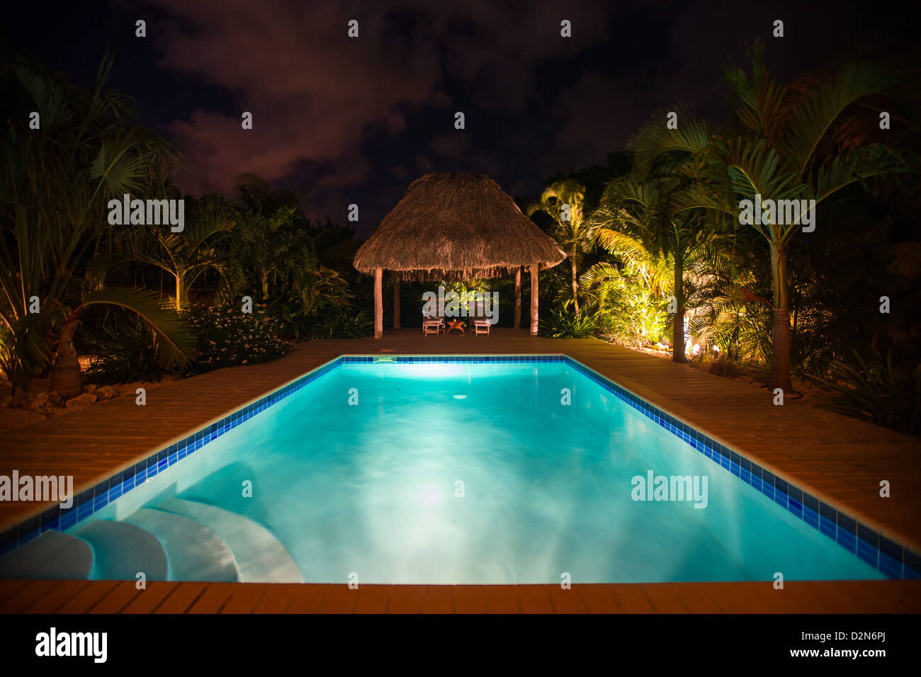 Ferienhaus in der Karibik Stockbild