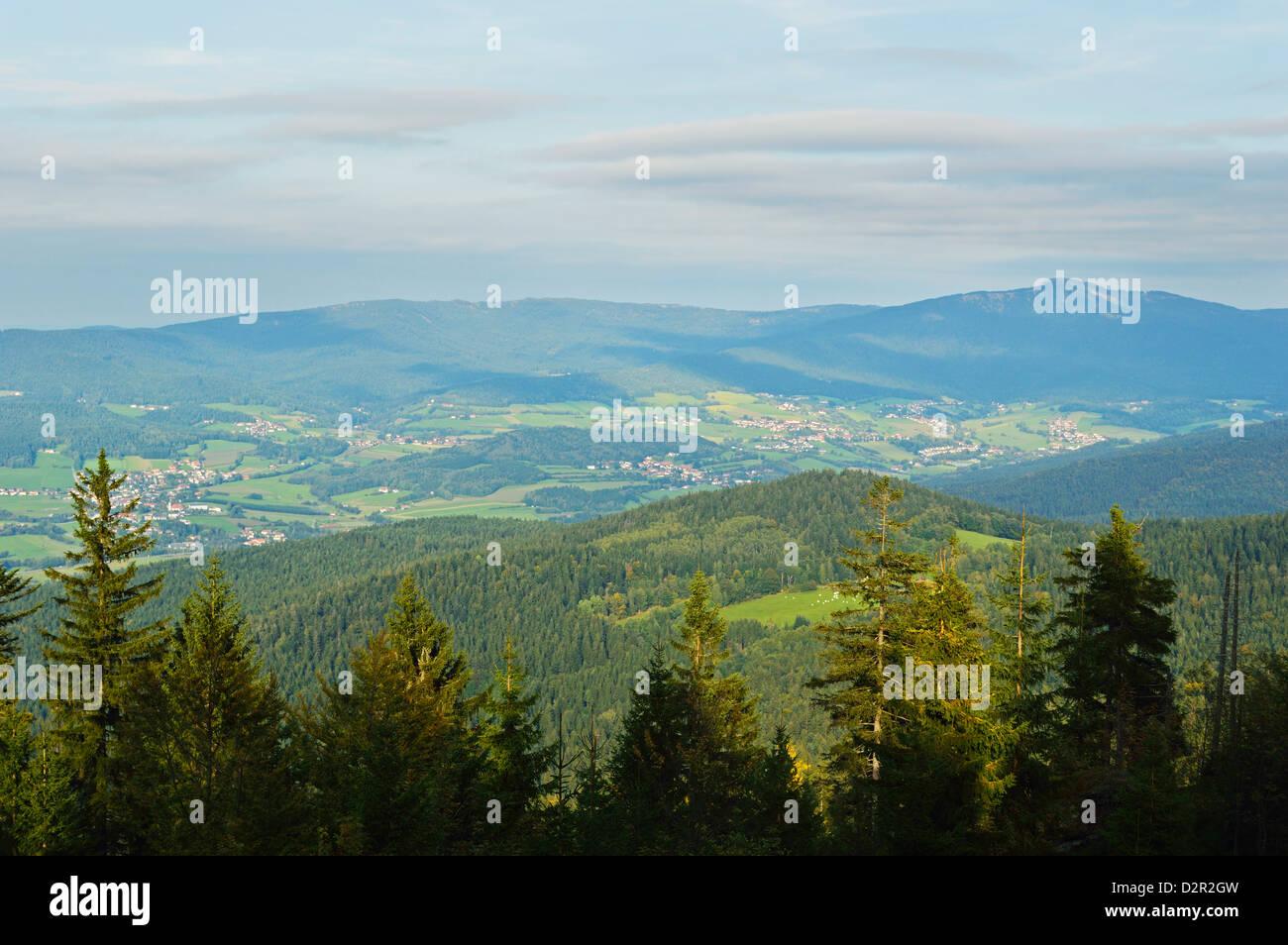 Ansicht des Bayerischen Waldes, in der Nähe von Furth Im Wald, Bayern, Deutschland, Europa Stockbild