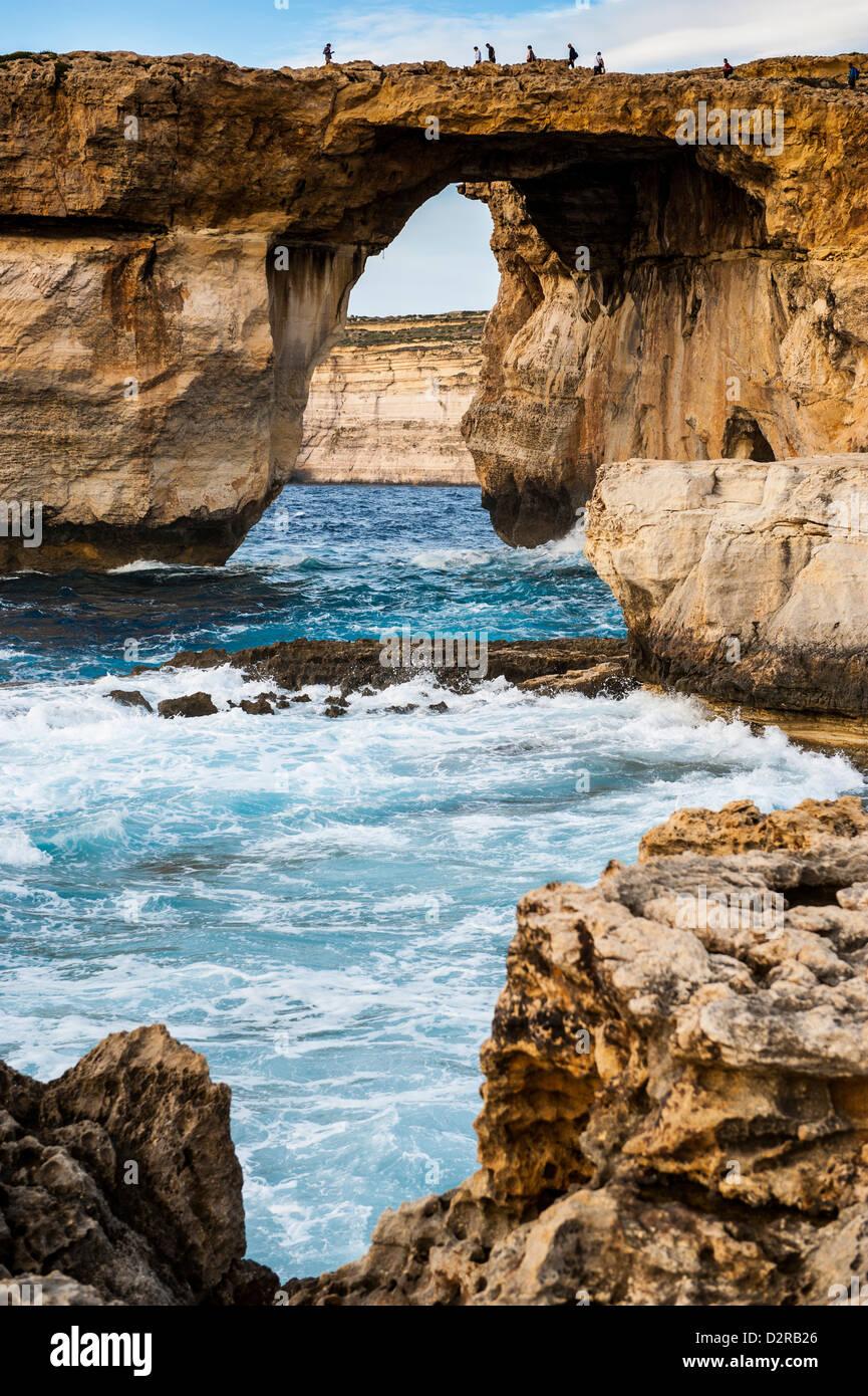 Berühmte Sea arch, das Azure Window, Gozo, Malta, Mittelmeer, Europa Stockbild