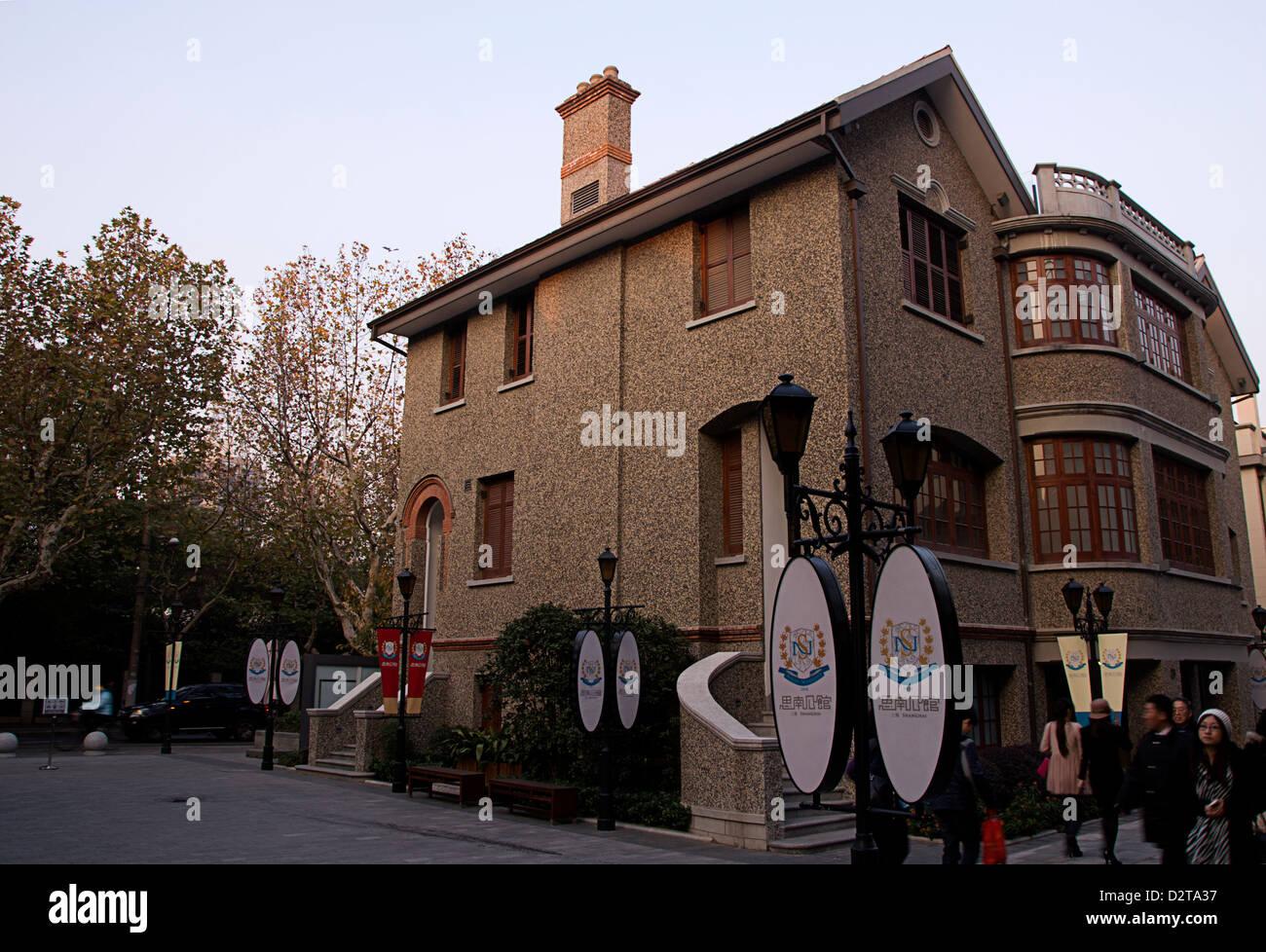 Shanghai Straßenbild alten Bungalow-Stil Stockbild