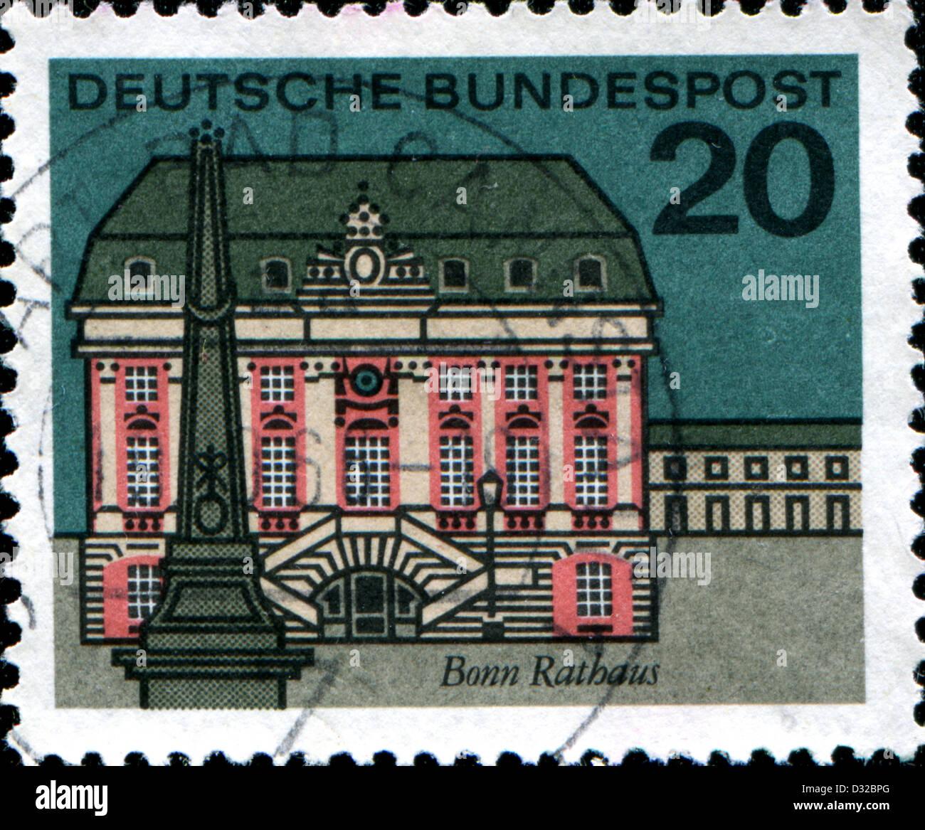 Deutschland Ca 1965 Eine Briefmarke Gedruckt In Deutschland