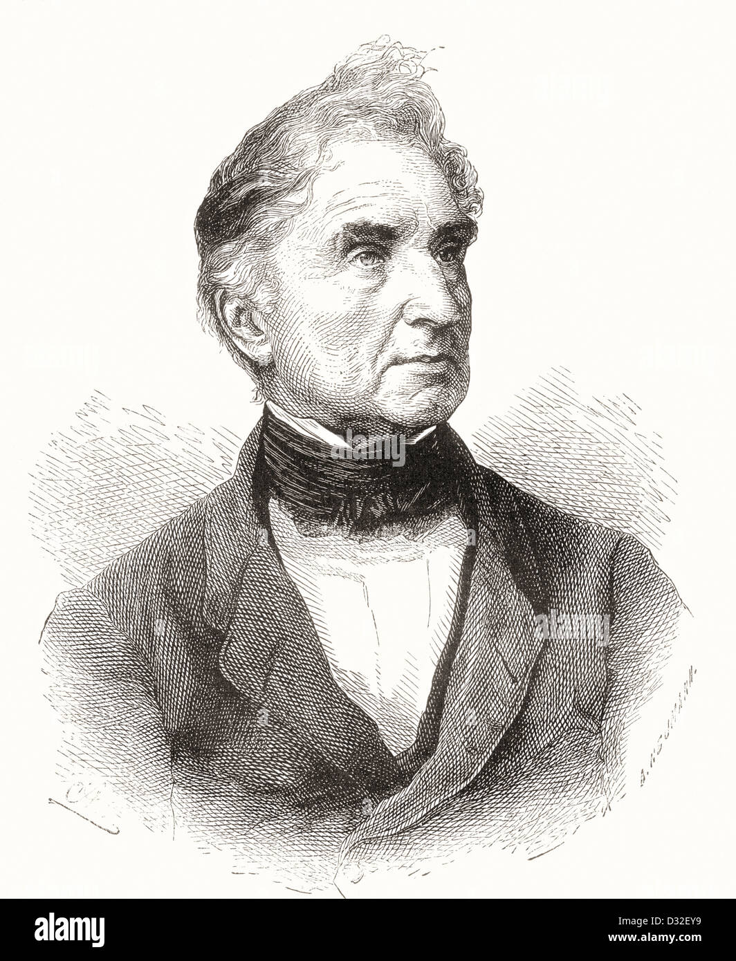 Justus Freiherr von Liebig, 1803 ?1873. Deutscher Chemiker. Stockbild