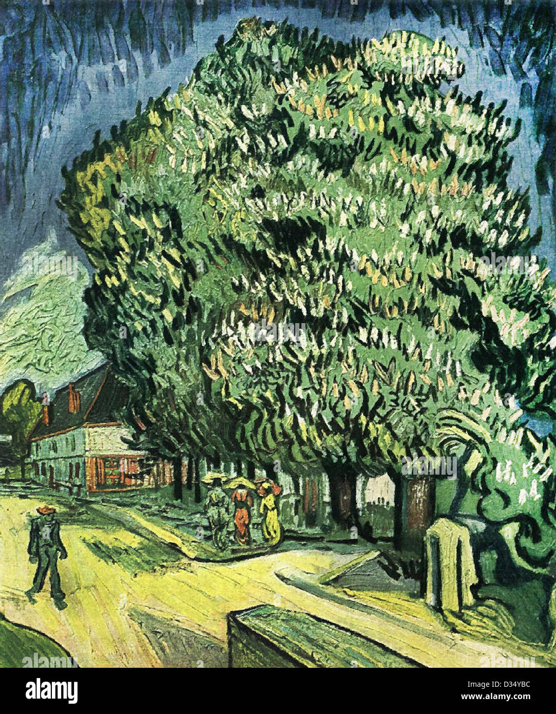 vincent van gogh kastanie baum in voller bl te 1890 post impressionismus l auf leinwand. Black Bedroom Furniture Sets. Home Design Ideas