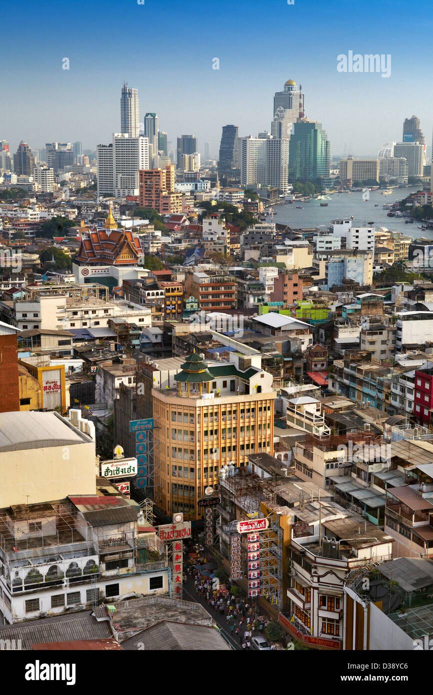 Bangkok Stadtbild, Chinatown, Bangkok, Thailand Stockbild