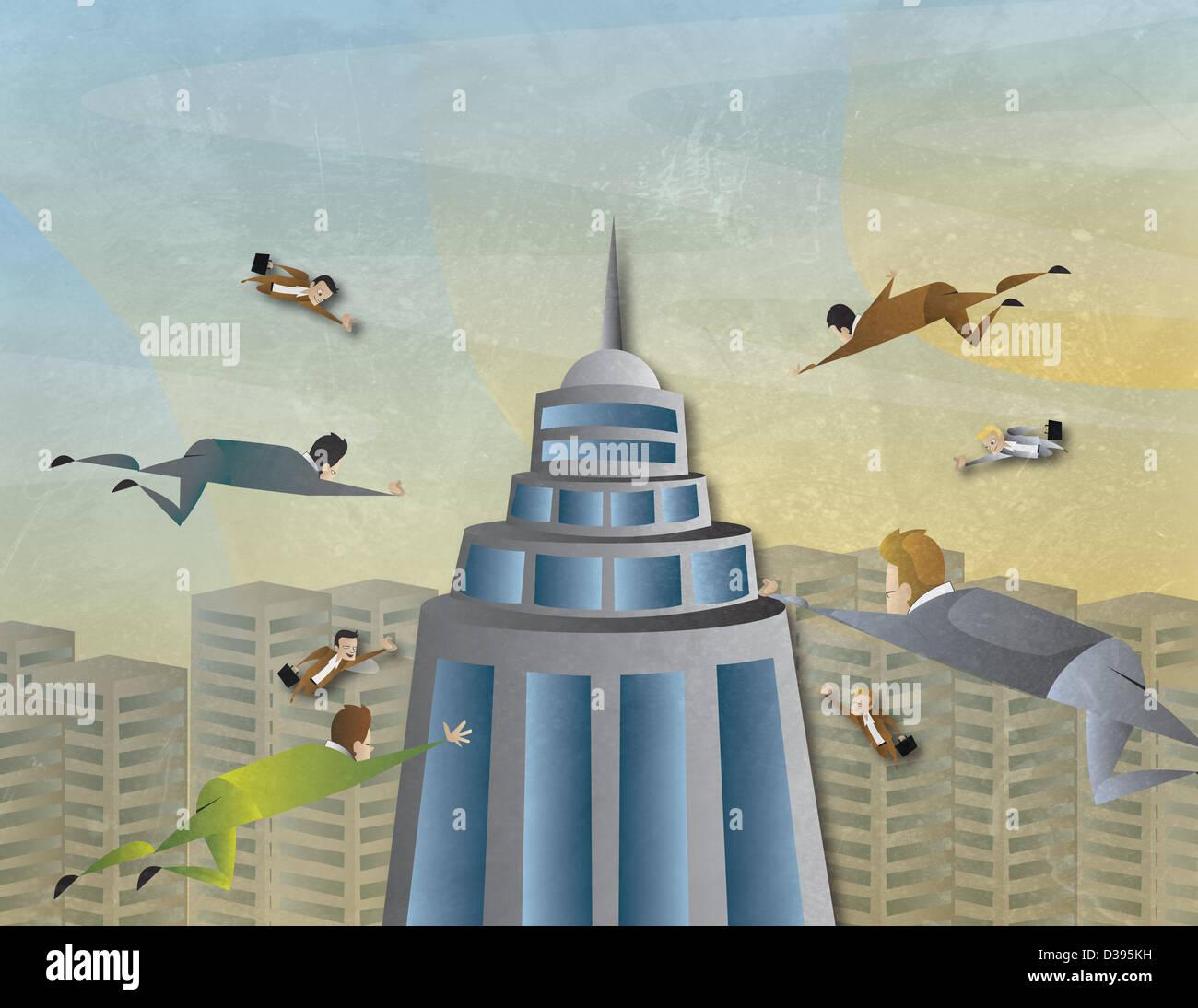Konzeptionelle Darstellung der Business-Attraktion Stockbild