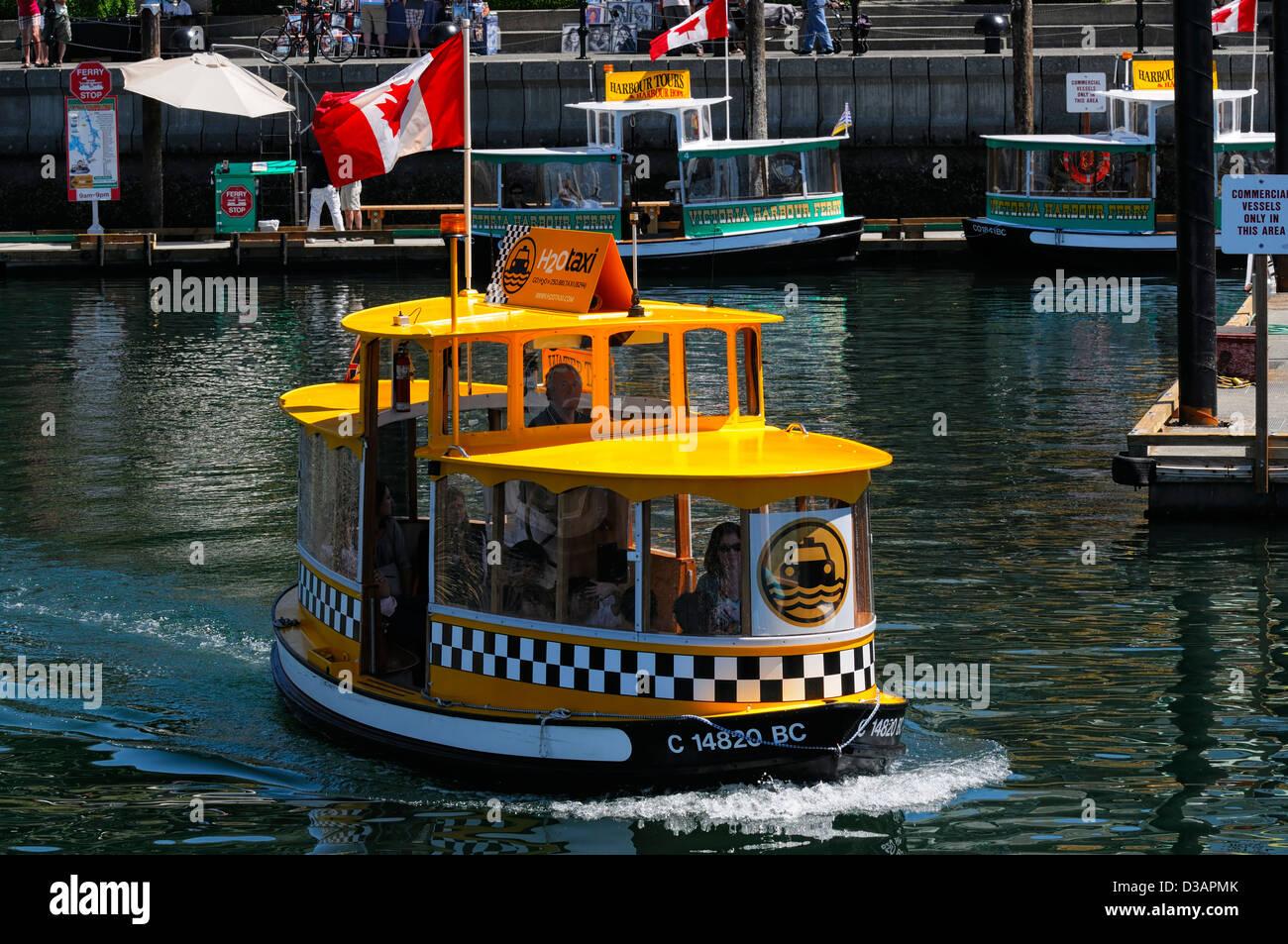 H2O Wasser Taxi Taxi Transport schnelle Tour Fähre Fähren inneren Hafen Victoria Vancouver Island Kanada Stockbild