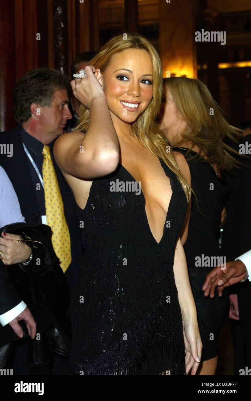 (Dpa) - US pop-Sängerin Mariah Carey an der cocktail-Party am Vorabend der World Music Awards Show in Monte Stockbild