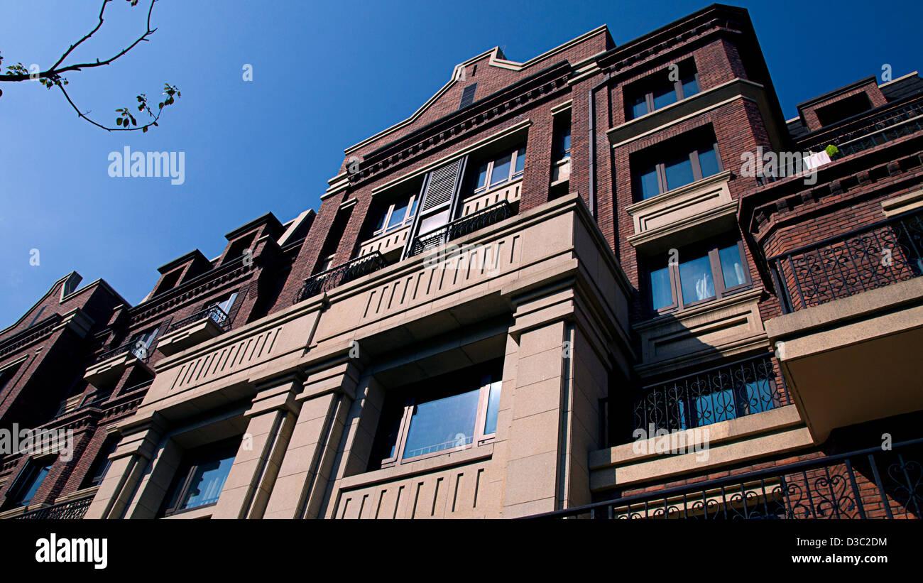 Shanghai Straßenbild, neues Haus Stockbild