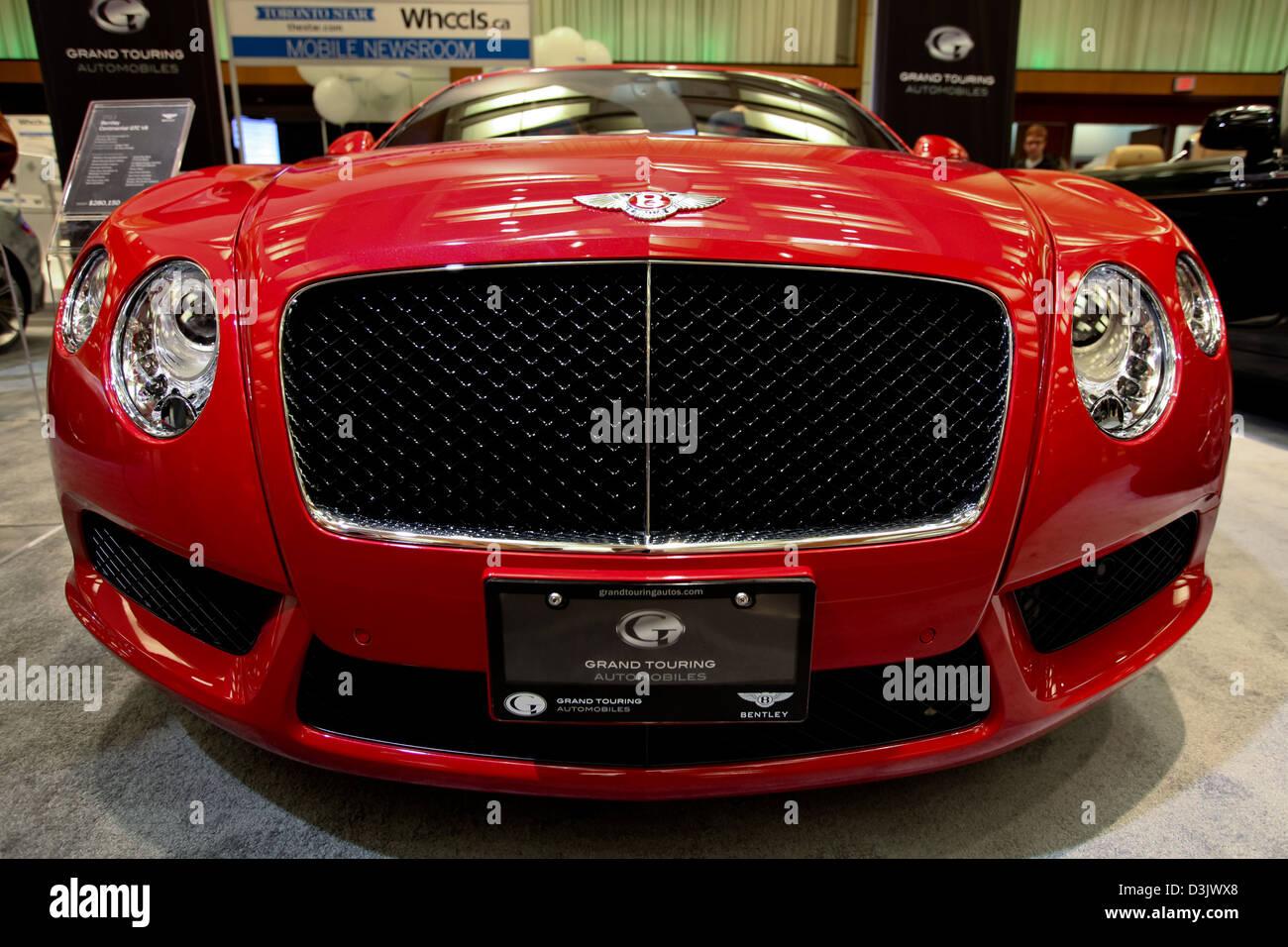 roten Bentley Frontgrill Stockbild