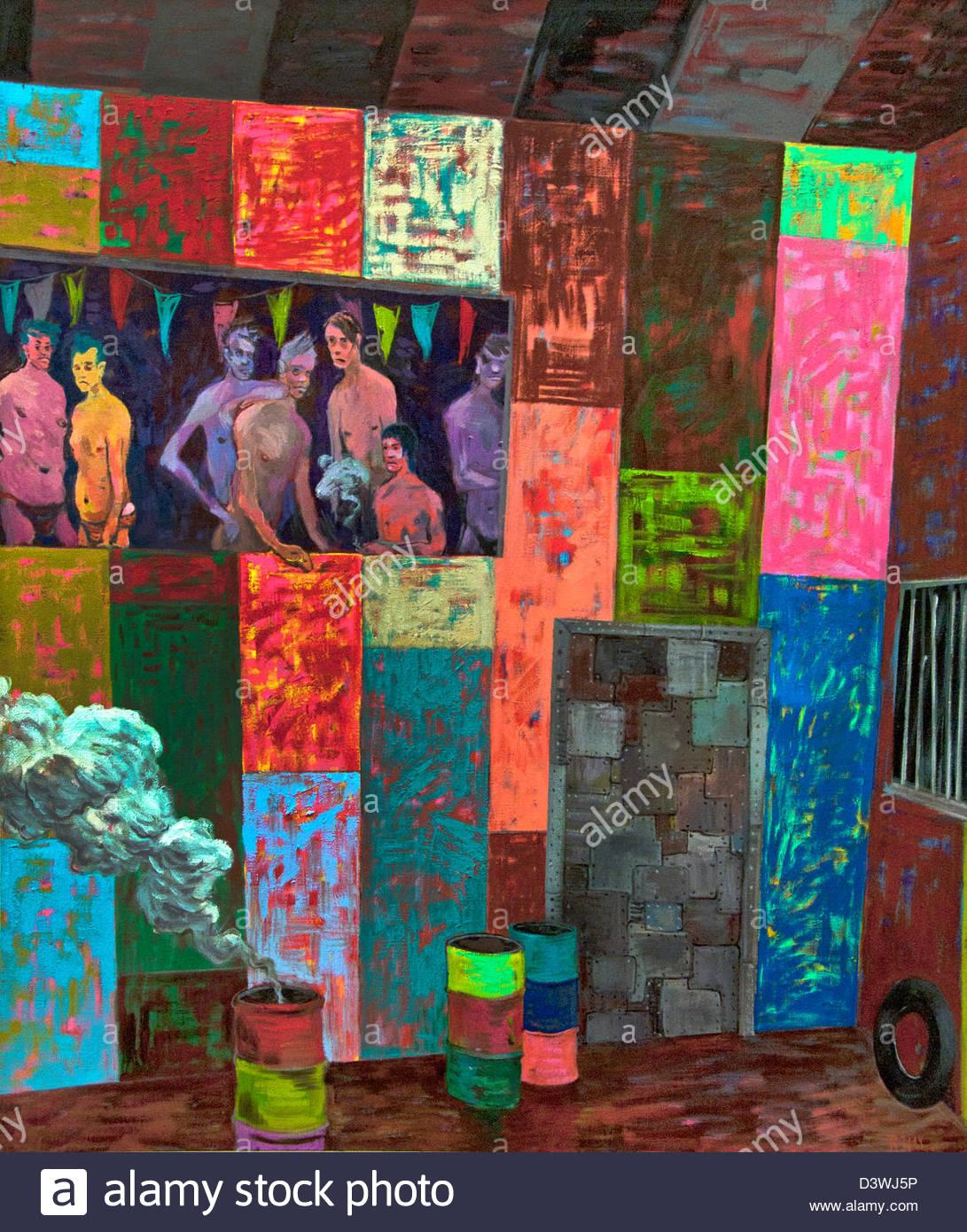 Salome Showroom 2011 Richard Hawkins amerikanische Malerei Stockbild