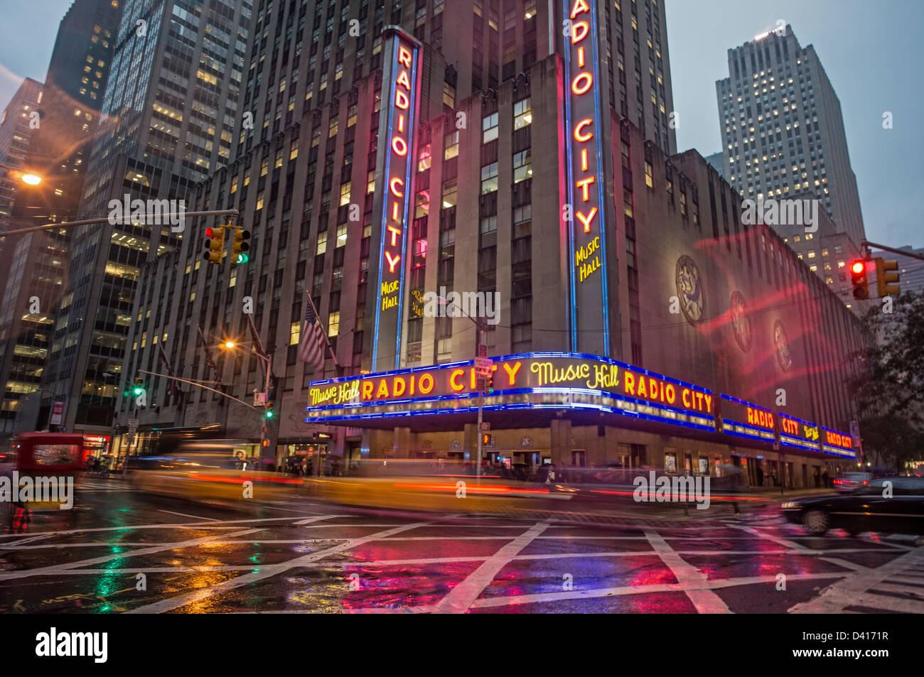 Die Radio Music Hall, Manhattan, New York City, USA Stockbild