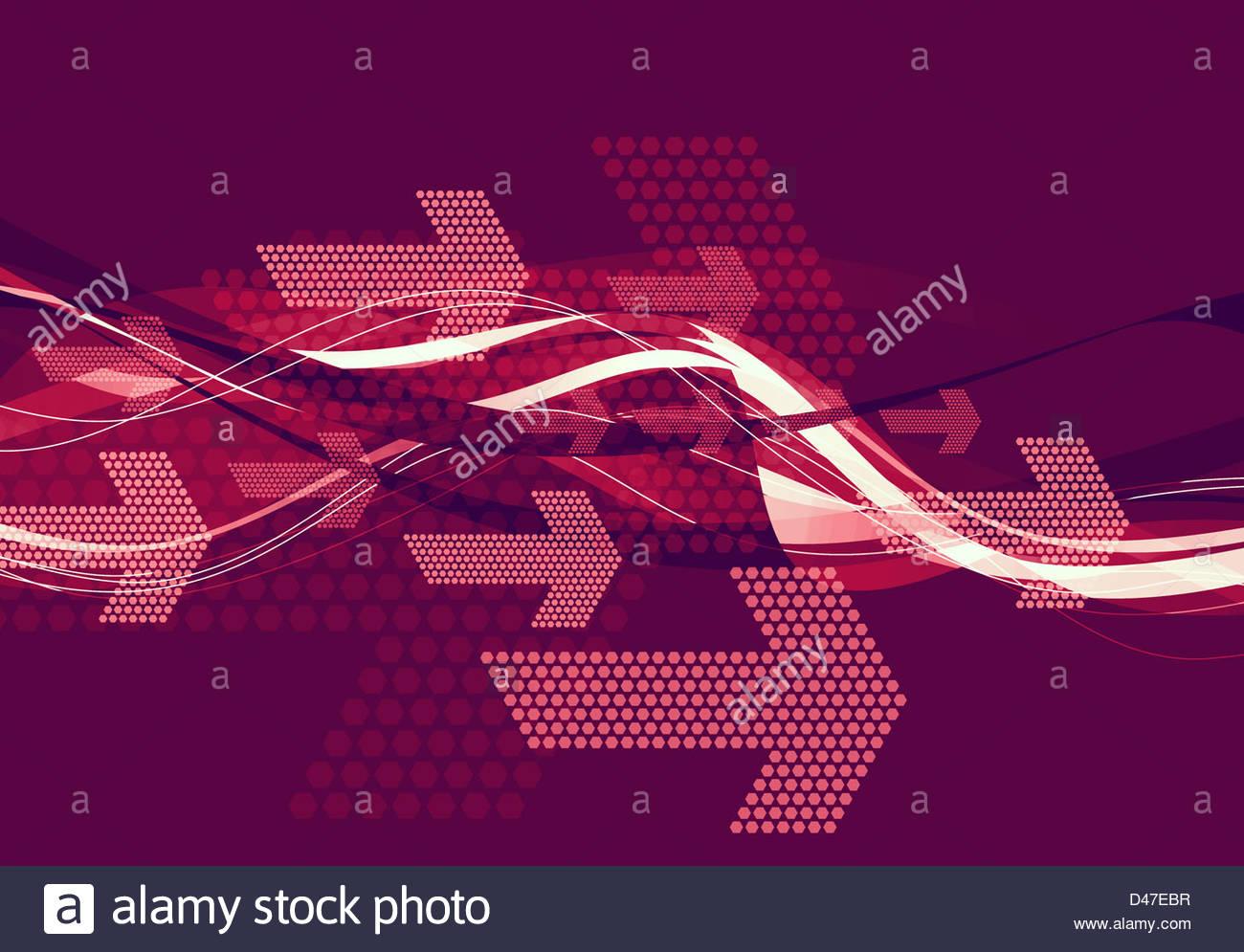 graphische Pfeile Stockbild