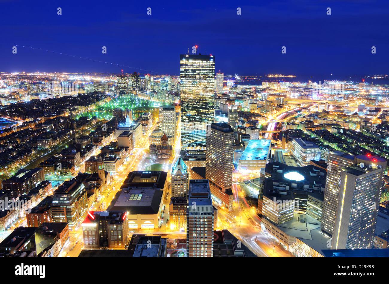 Luftaufnahme der Innenstadt von Boston, Massachusetts, USA. Stockbild
