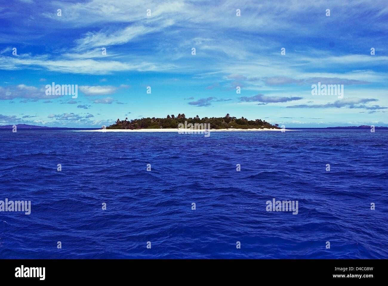 Malama Island, Fidschi Stockbild