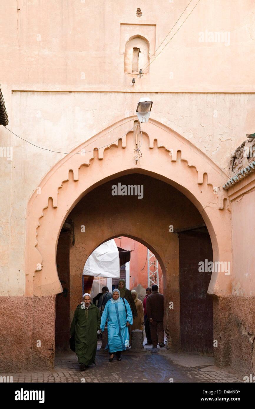 Afrika, Marokko, Marrakesch, Souk, Alltag Stockbild