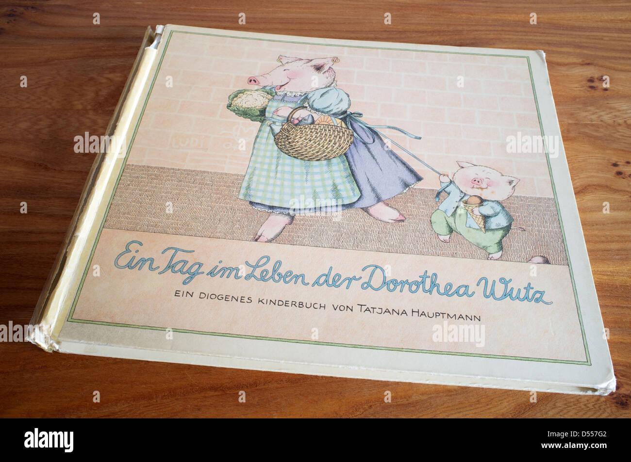 Ein Tag Im Leben der Dorothea Wutz, illustrierte Kinderbuch Stockbild