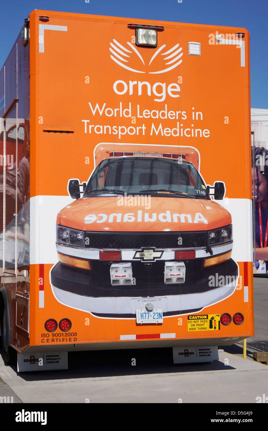Ornge Ambulance Service Van Stockbild