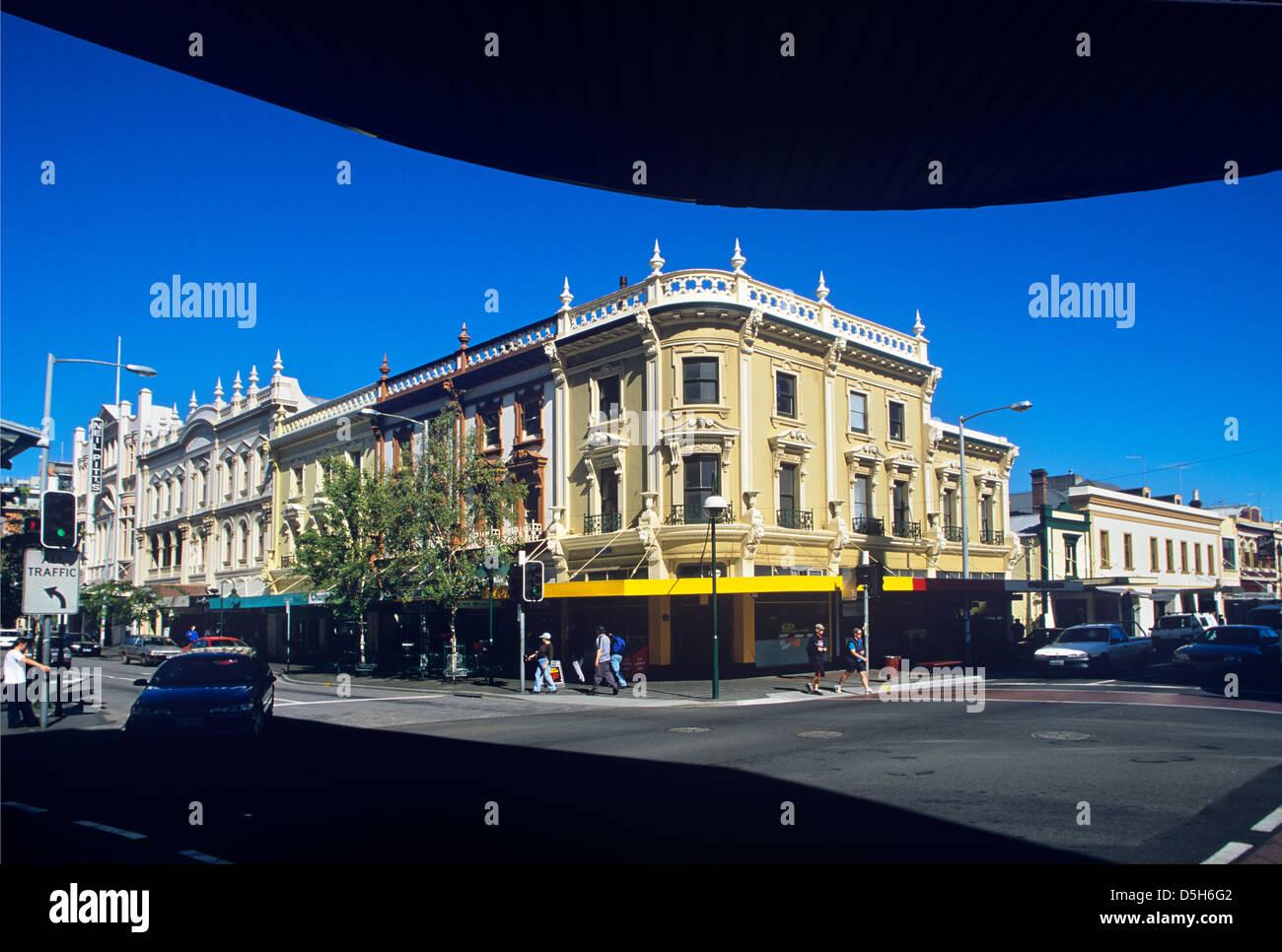 Australien, Tasmanien, Launceston, viktorianischen Straßenbild in der George Street / Brisbane Street, The Stockbild