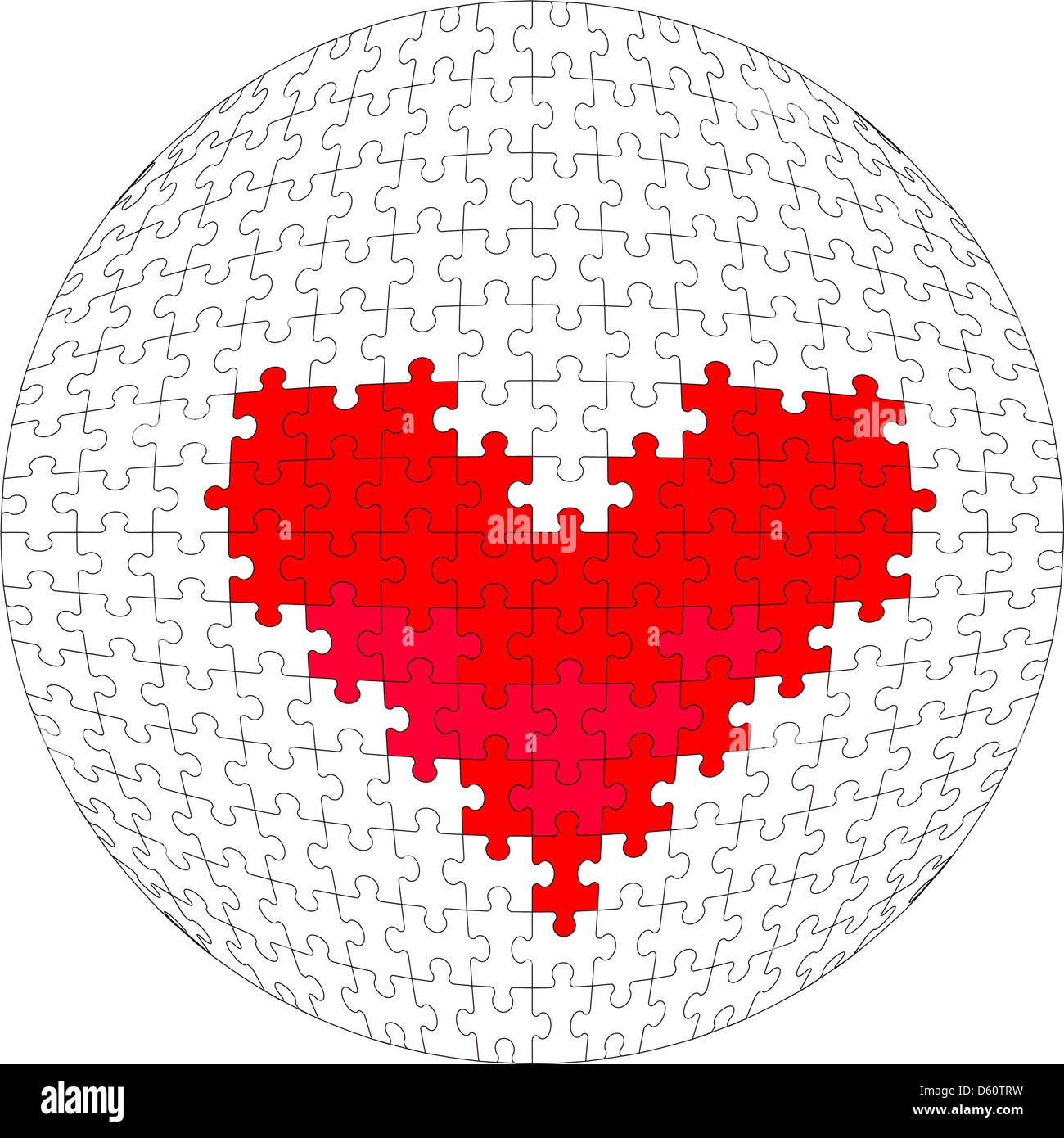3D Puzzleball in Farbe 28 Stockbild
