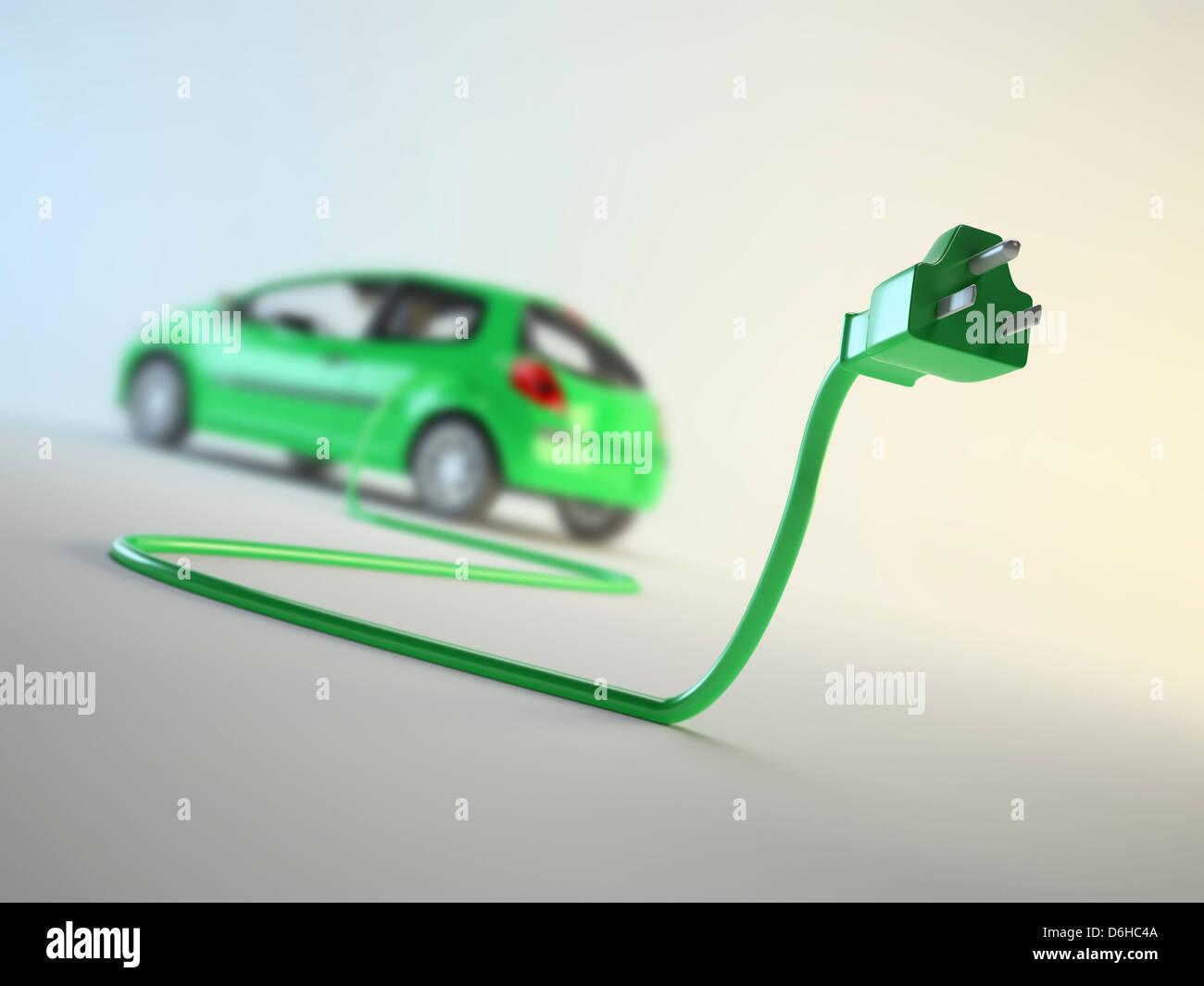 Elektro-Auto, artwork Stockbild