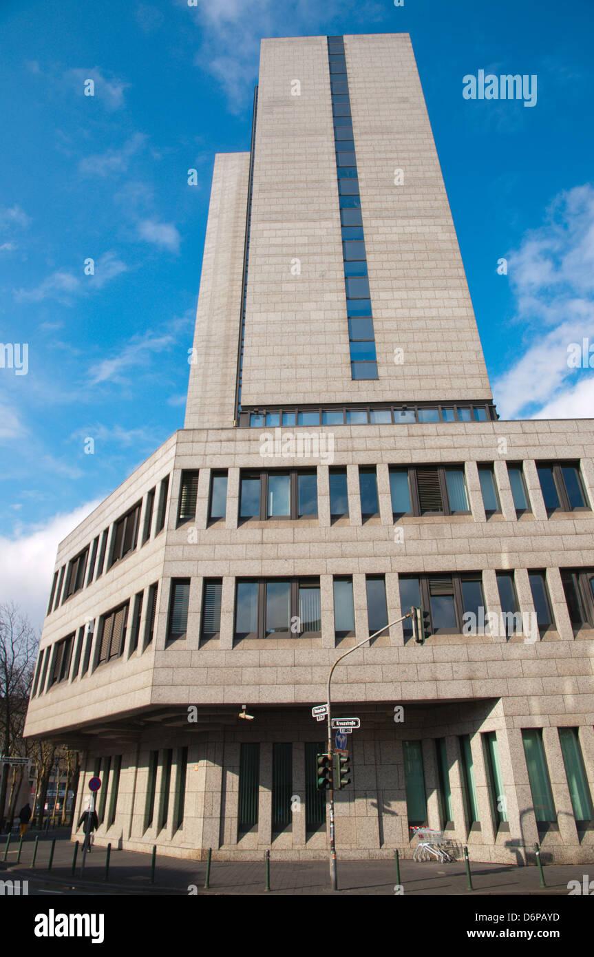 Deutschen Bundesbank Gebäude Düsseldorf Stadt Nordrhein-Westfalen Region Deutschland Westeuropa Stockbild