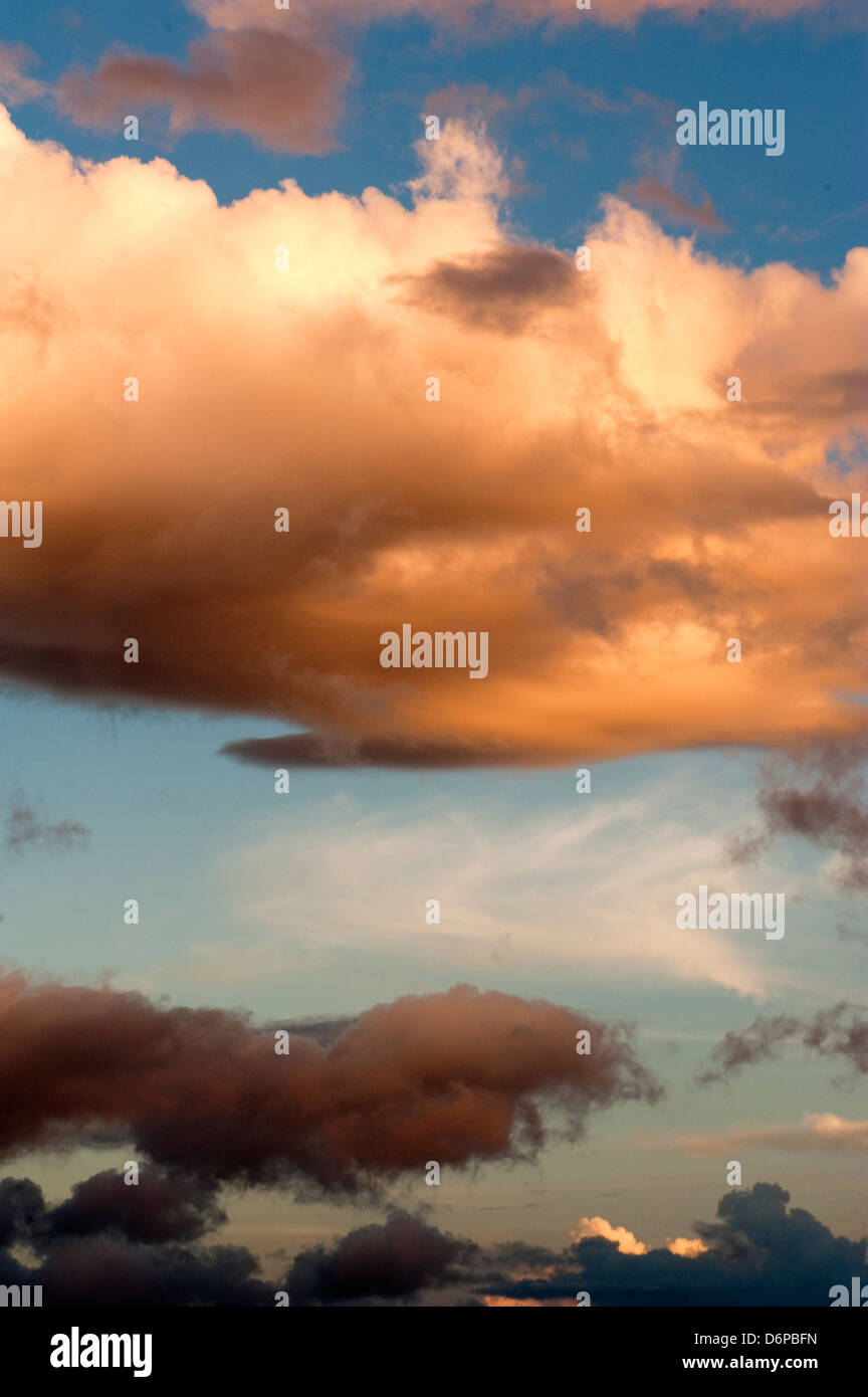 Wolken über Dominica, West Indies, Karibik, Mittelamerika Stockbild