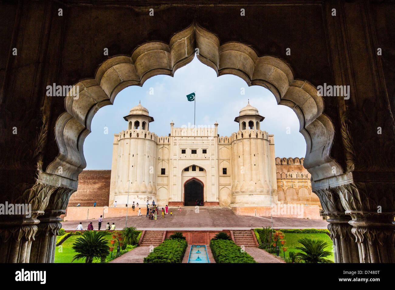 Alamgiri Gatter, Lahore Fort, Lahore, Pakistan Stockfoto