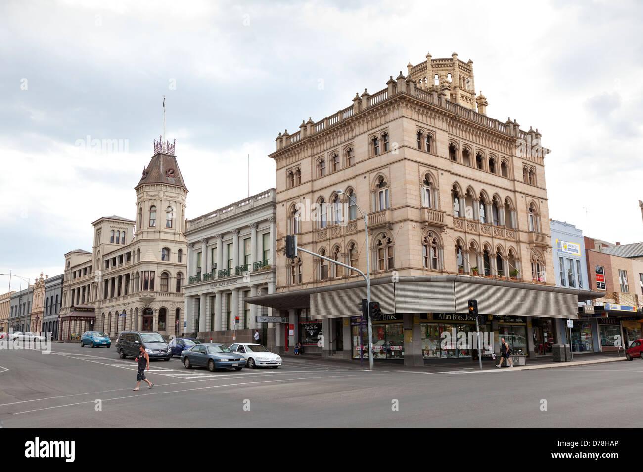Ballarat Straßenbild in Victoria Australien Stockbild