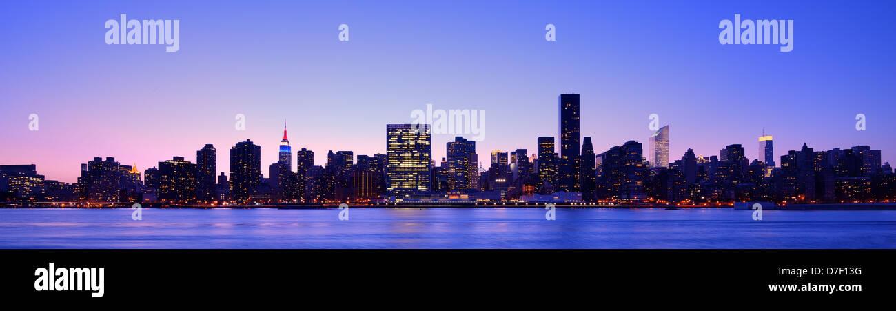 Panorama von Midtown New York City Stockbild