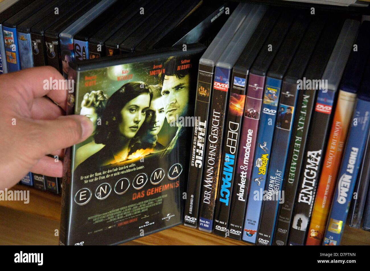 DVD, DVDs, Filme, Film, Filme Stockbild